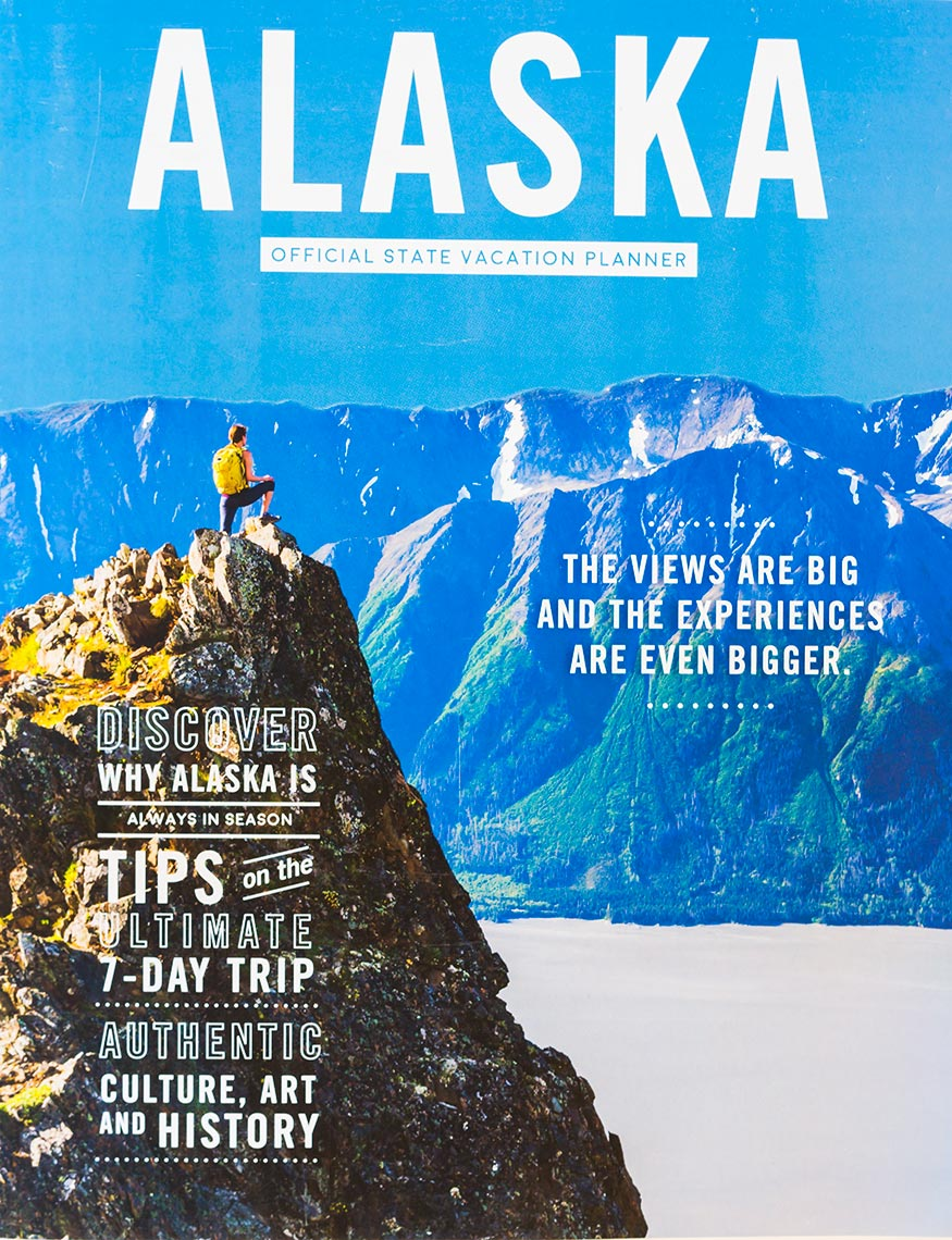 Travel Alaska State Vacation Planner 2018 Cover | Michael DeYoung