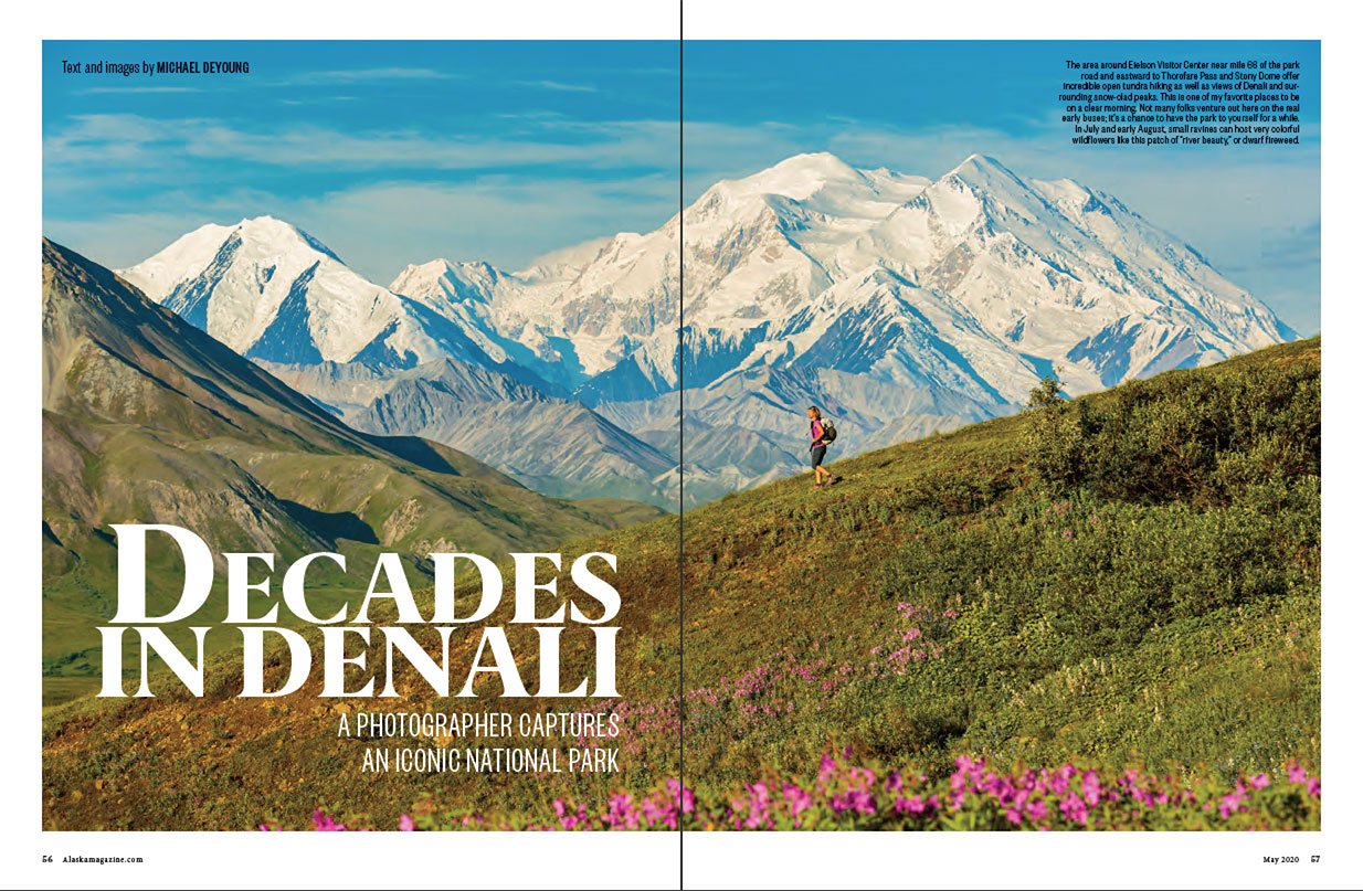 Alaska Magazine Denali Feature Opener May 2020 | Michael DeYoung