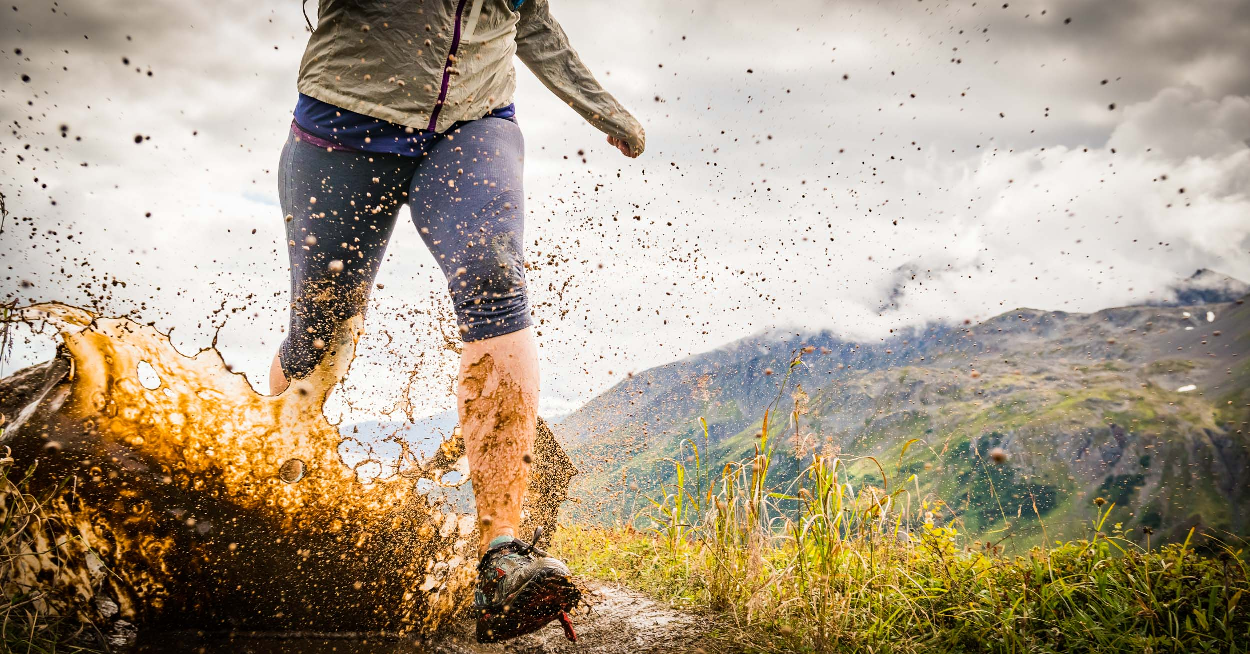 Alaska Active Lifestyle Photographer Trail Runner Splash