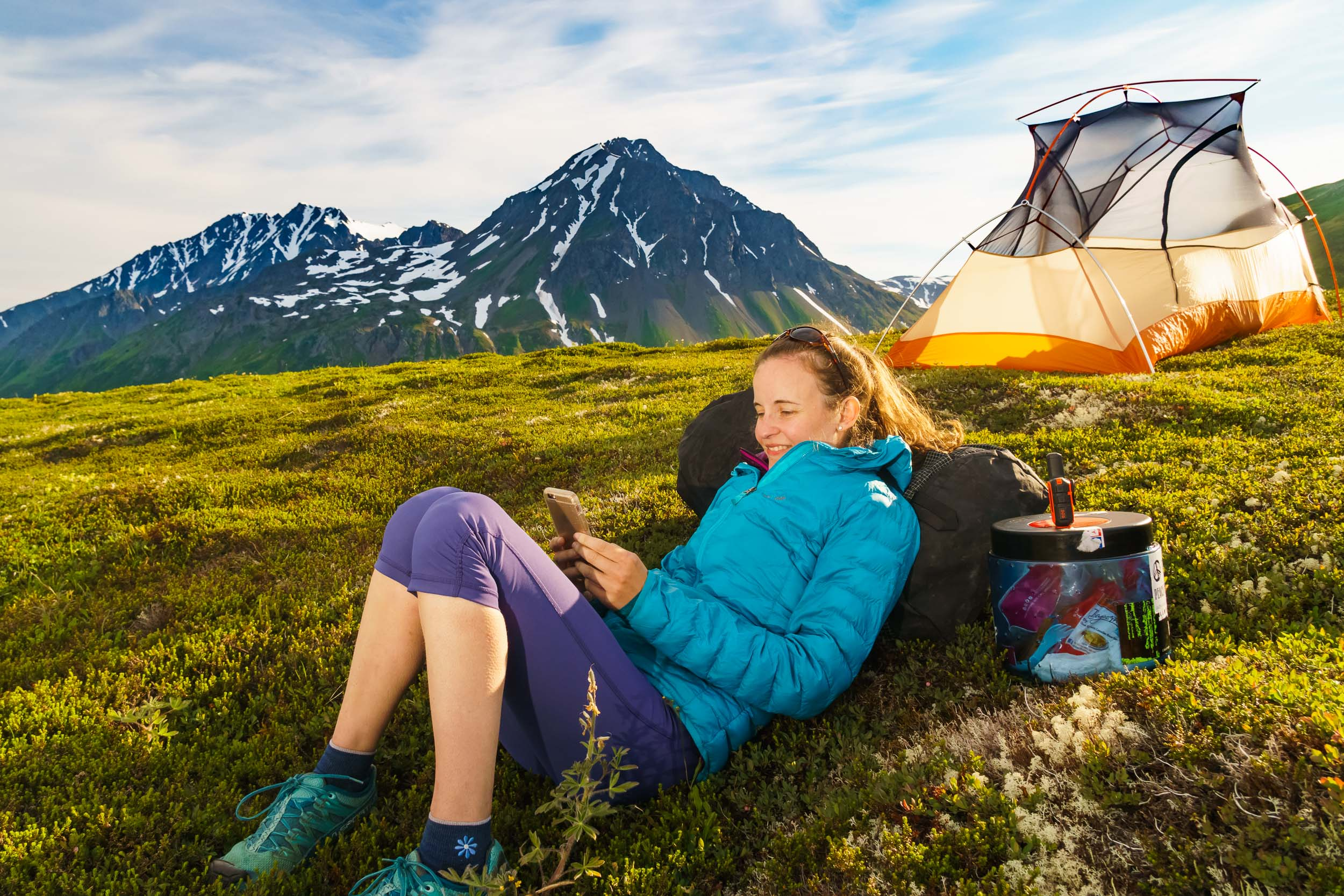 Alaska Active Lifestyle Photographers Solo Camp Adventure