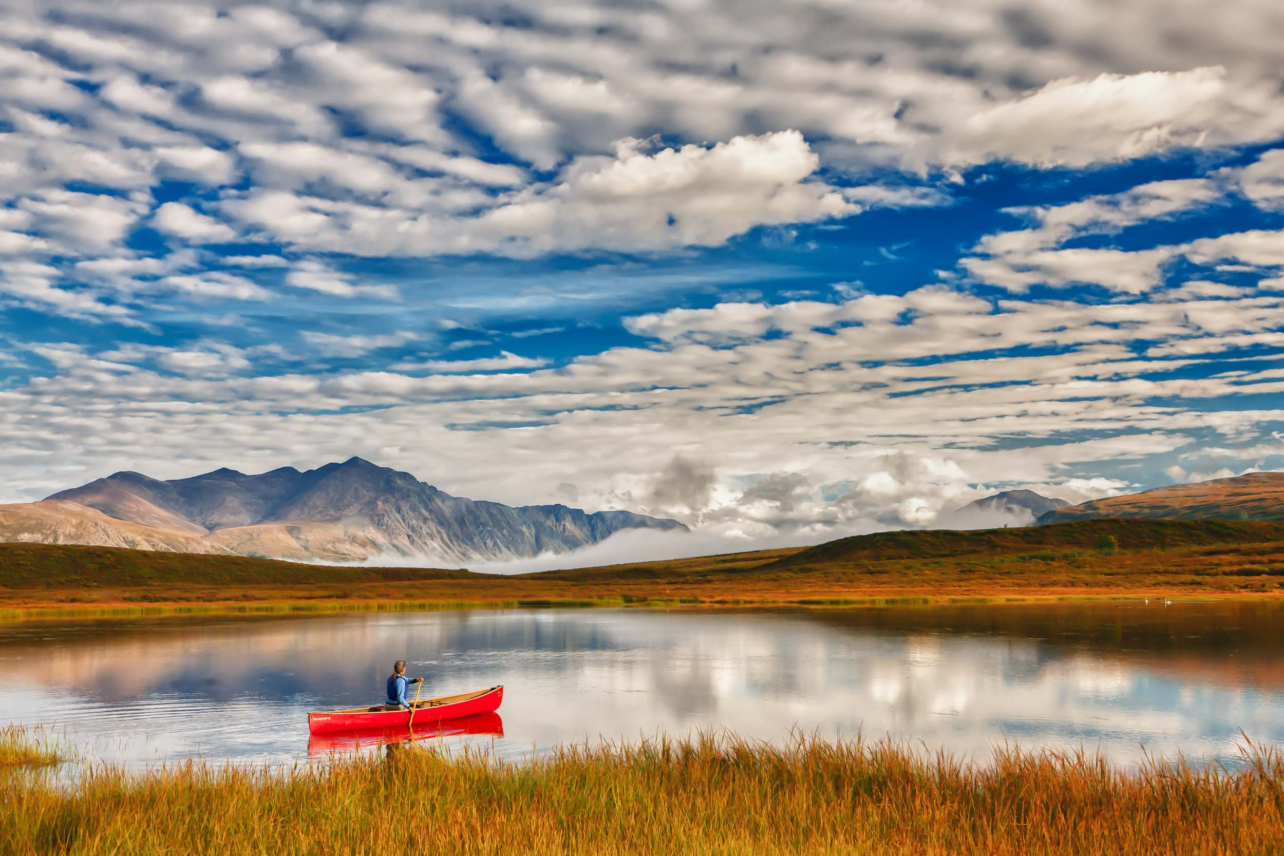 Alaska Tourism Photographer Michael DeYoung Tangle Lake Canoe