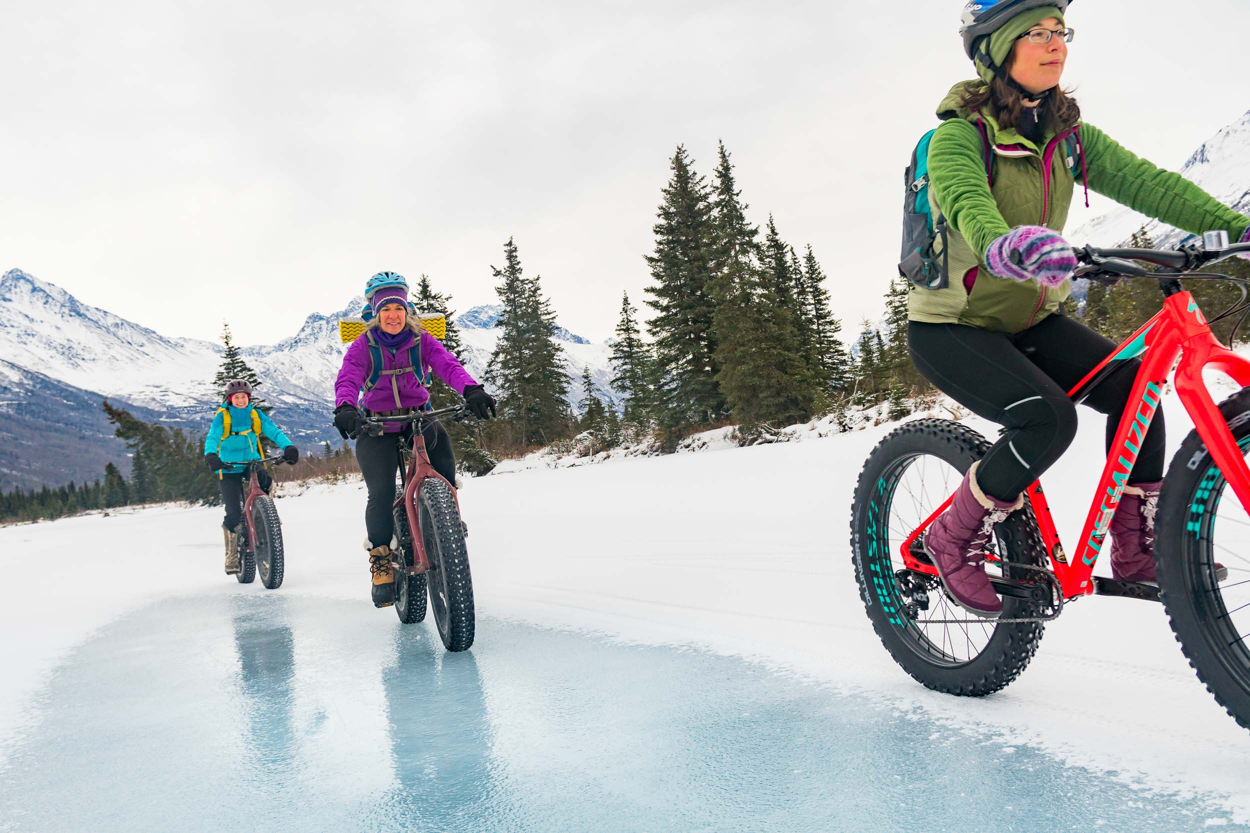 Alaska Photographer Michael DeYoung Friends Fat Tire Winter