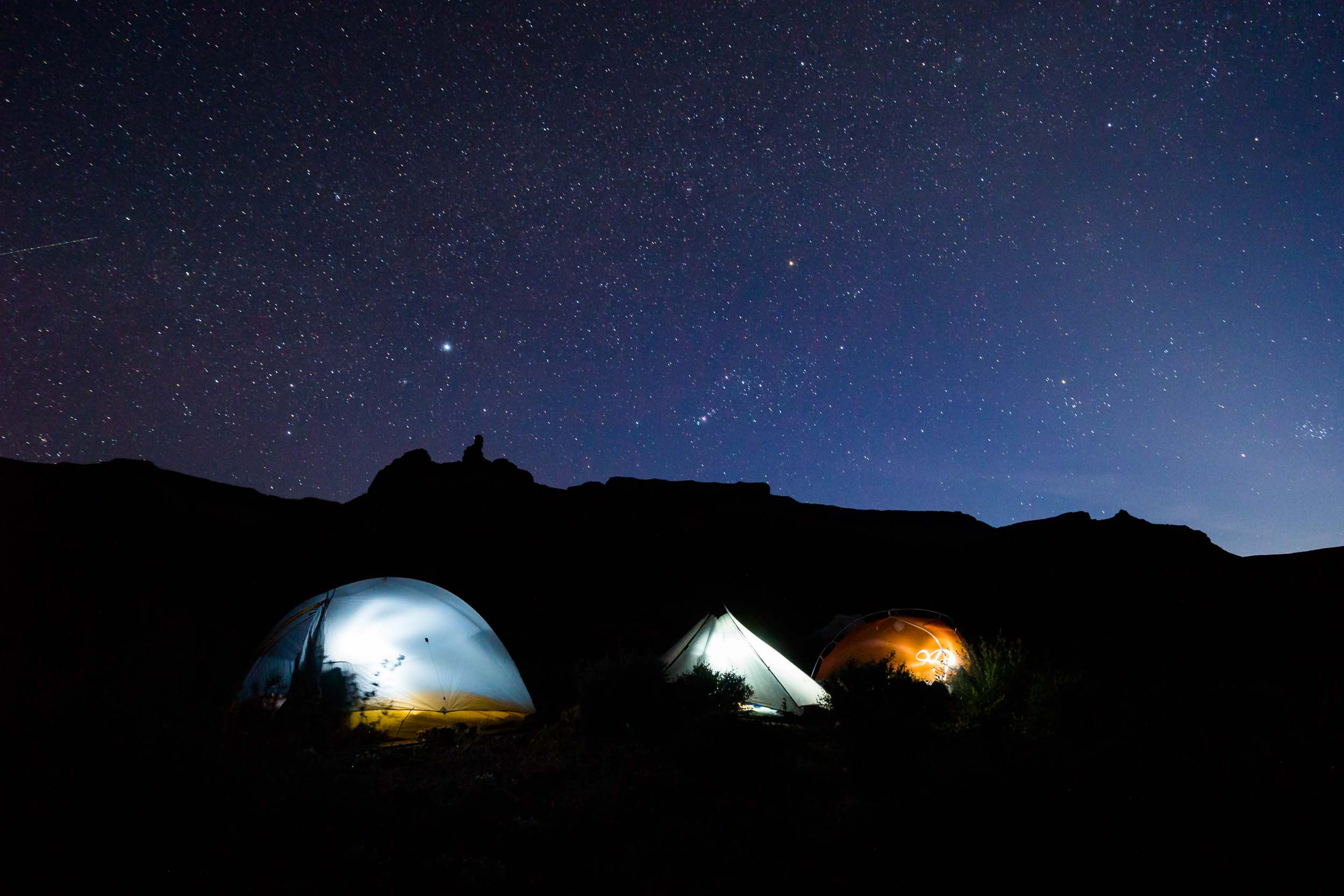 Grand Canyon National Park Backcountry Night Camp