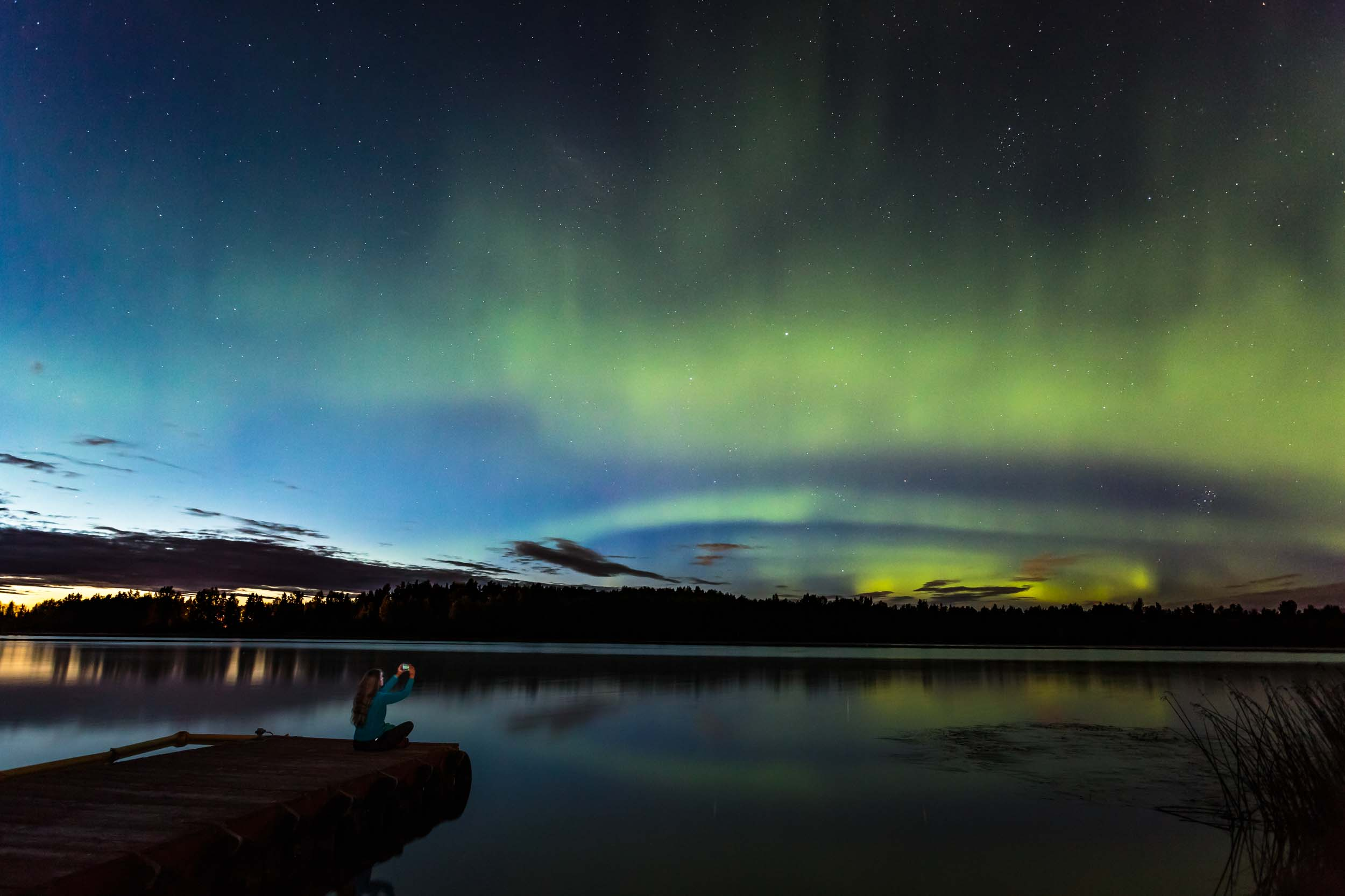 Northern Lights Over Anchorage Alaska Travel Tourism Photographer