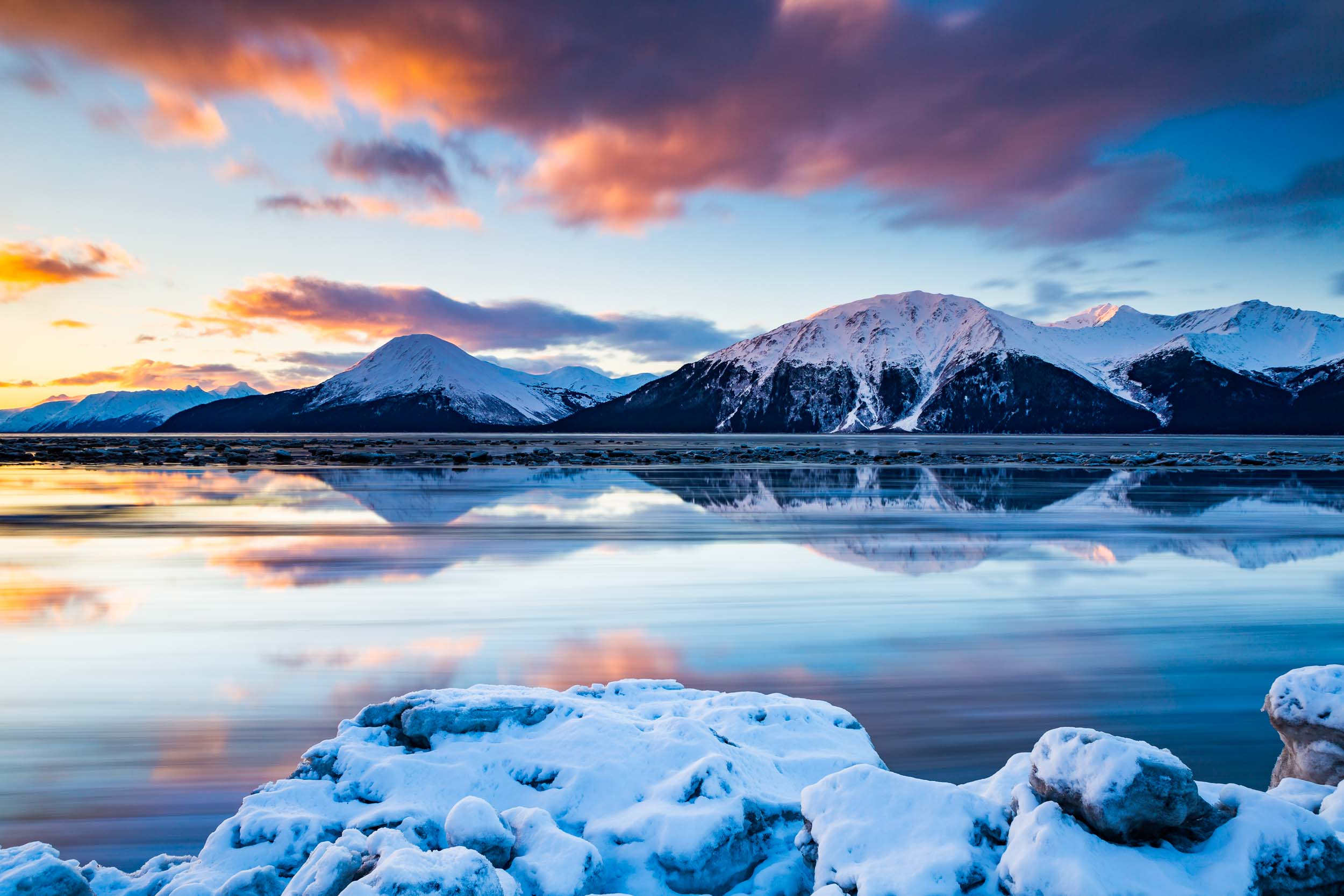 Turnagain Arm Winter Landscape Alaska Tourism Photographer