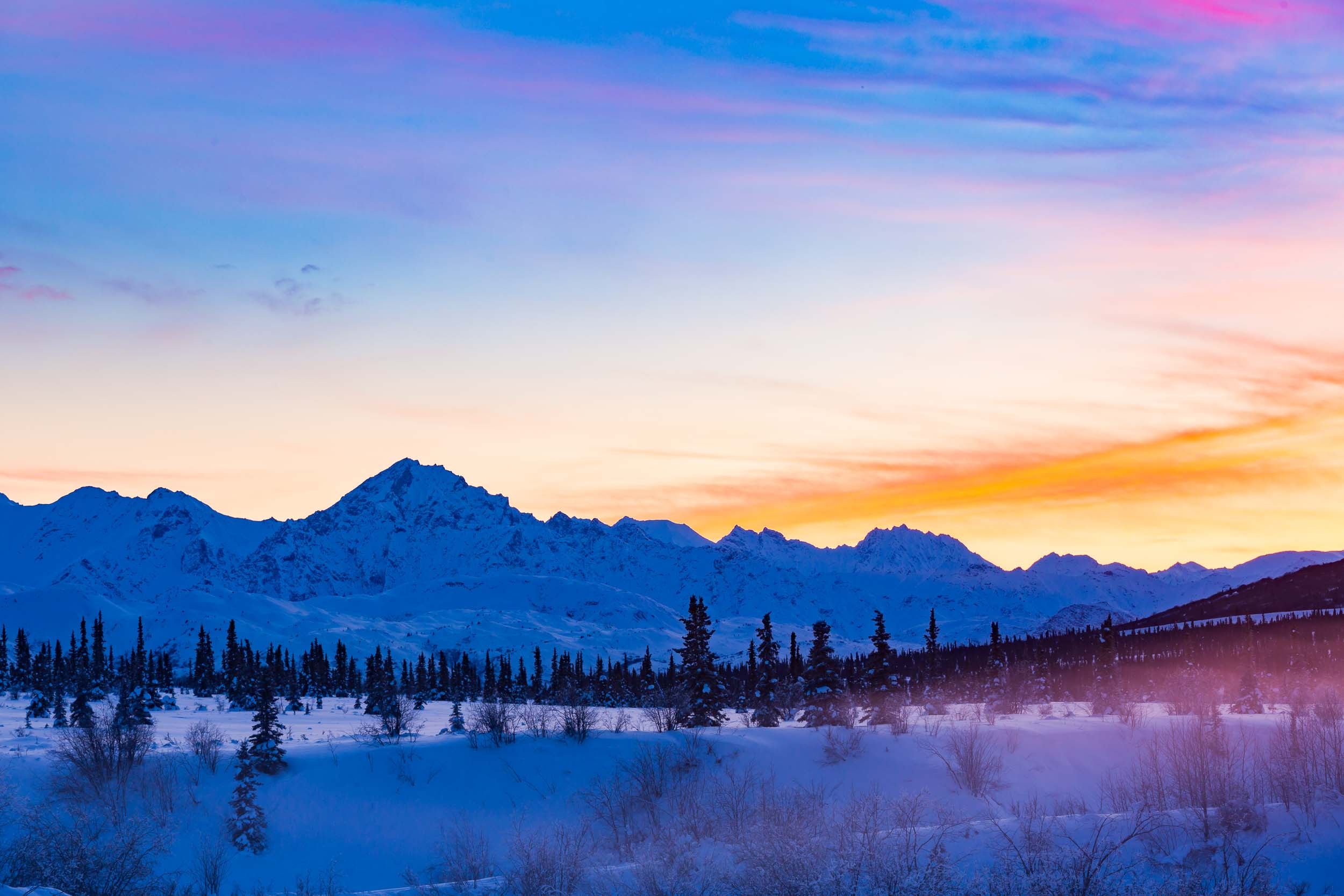 Chugach Mountain Winter Landscape Alaska Tourism Photographer
