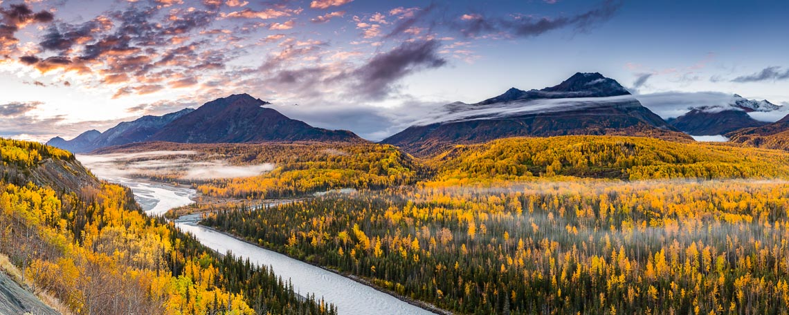 Fall Landscape in Alaska | Photographer Michael DeYoung