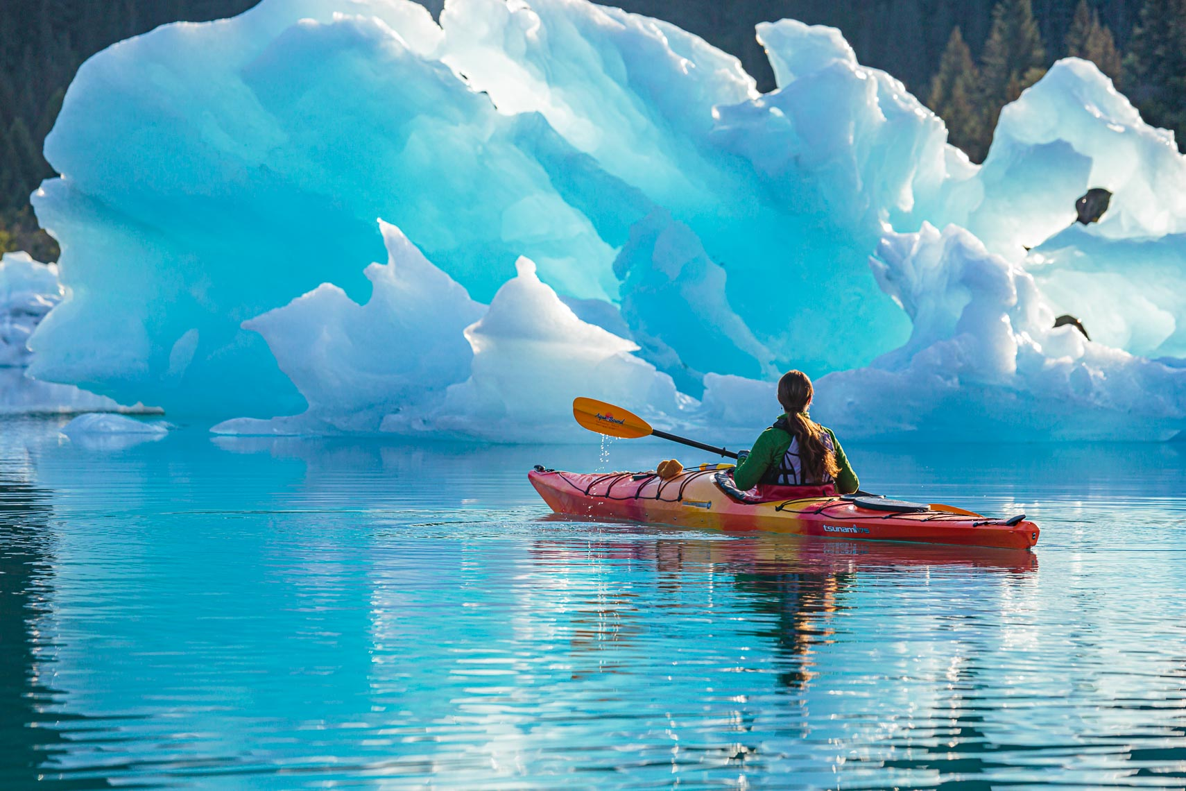 Alaska Kayak Touring by Large Iceberg | Michael DeYoung