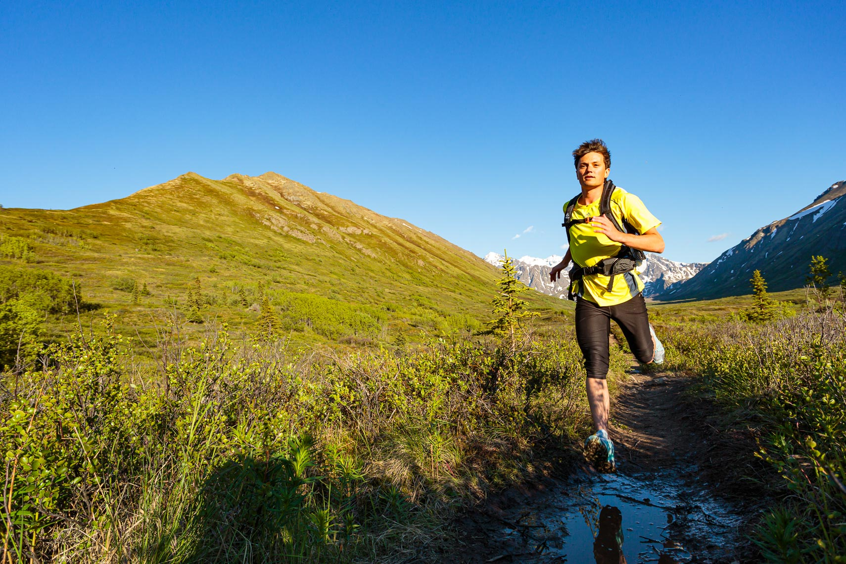 Male Trail Runner in Alaska | Michael DeYoung