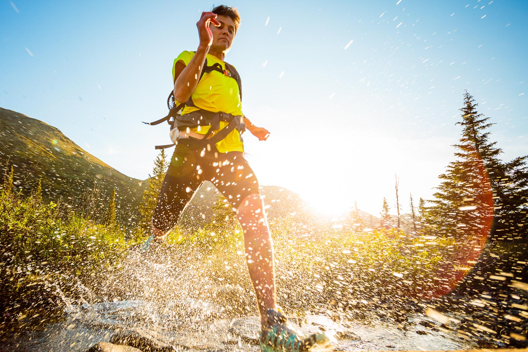 Male Trail Runner Chugach Mountain Trail | Michael DeYoung
