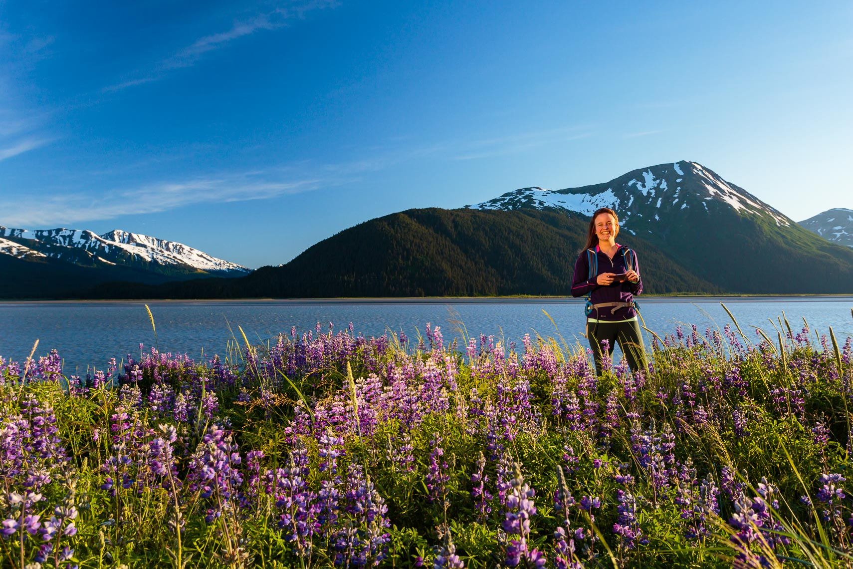 Female Hiker Along Turnagain Arm Alaska | Michael DeYoung