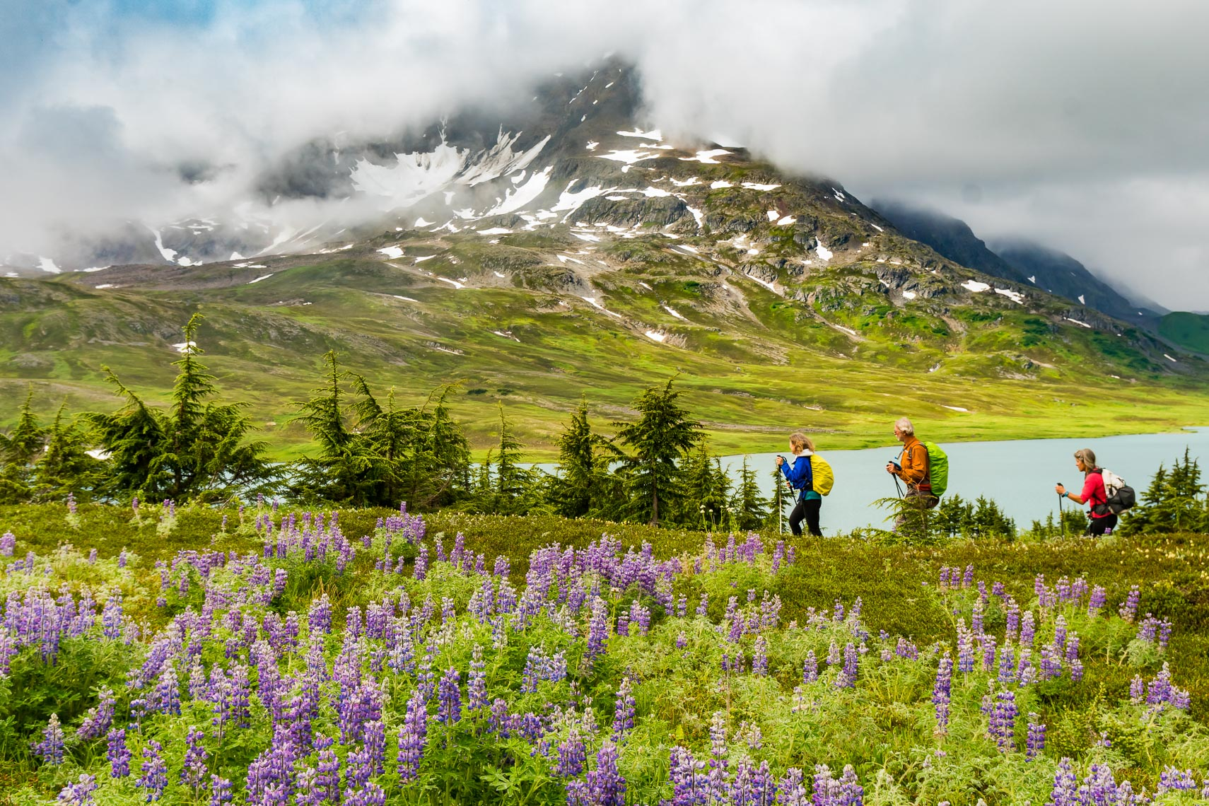 Couple Hike Alaska Lost Lake Trail | Photographer Michael DeYoung