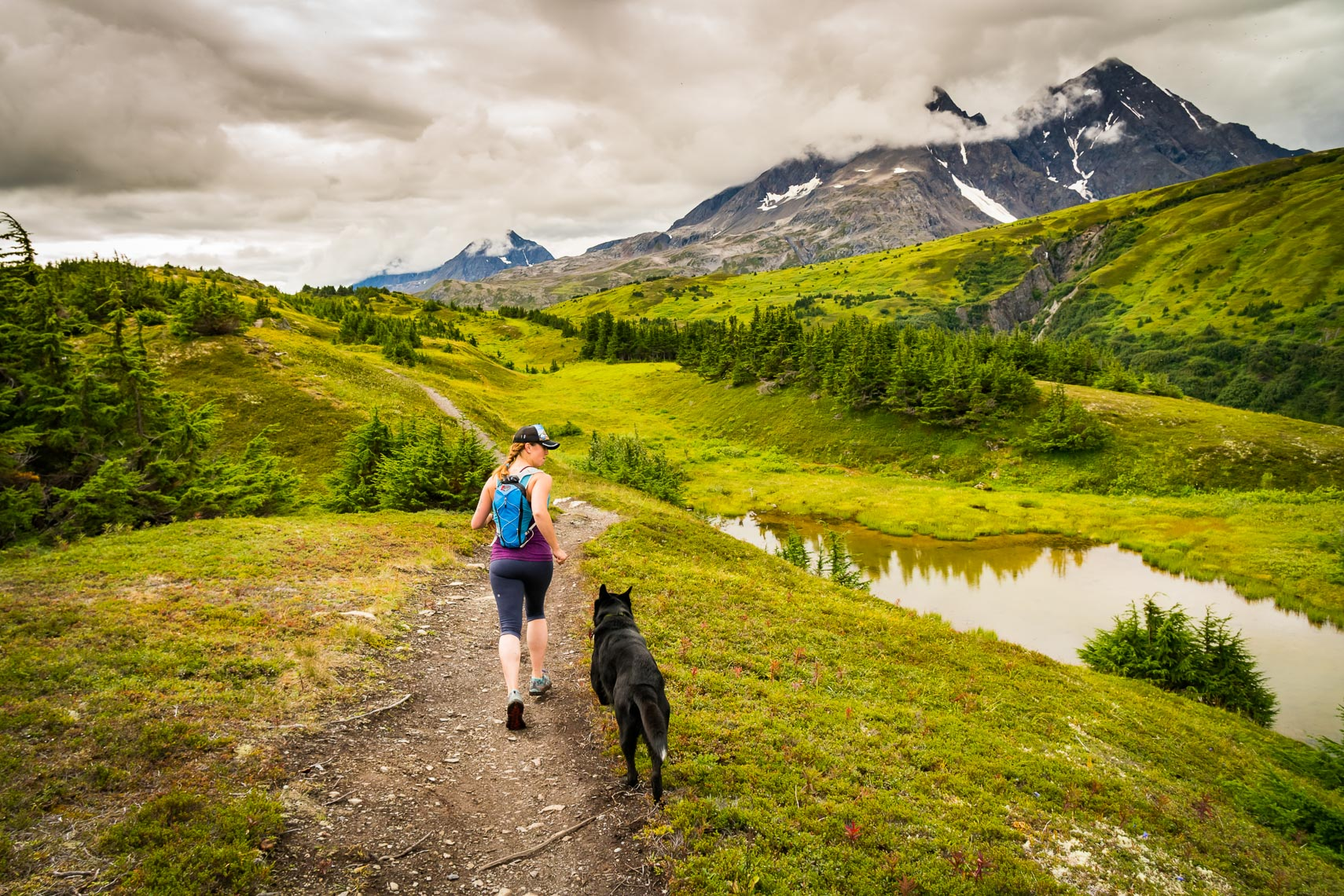 Alaska Lost Lake Trail Running | Photographer Michael DeYoung