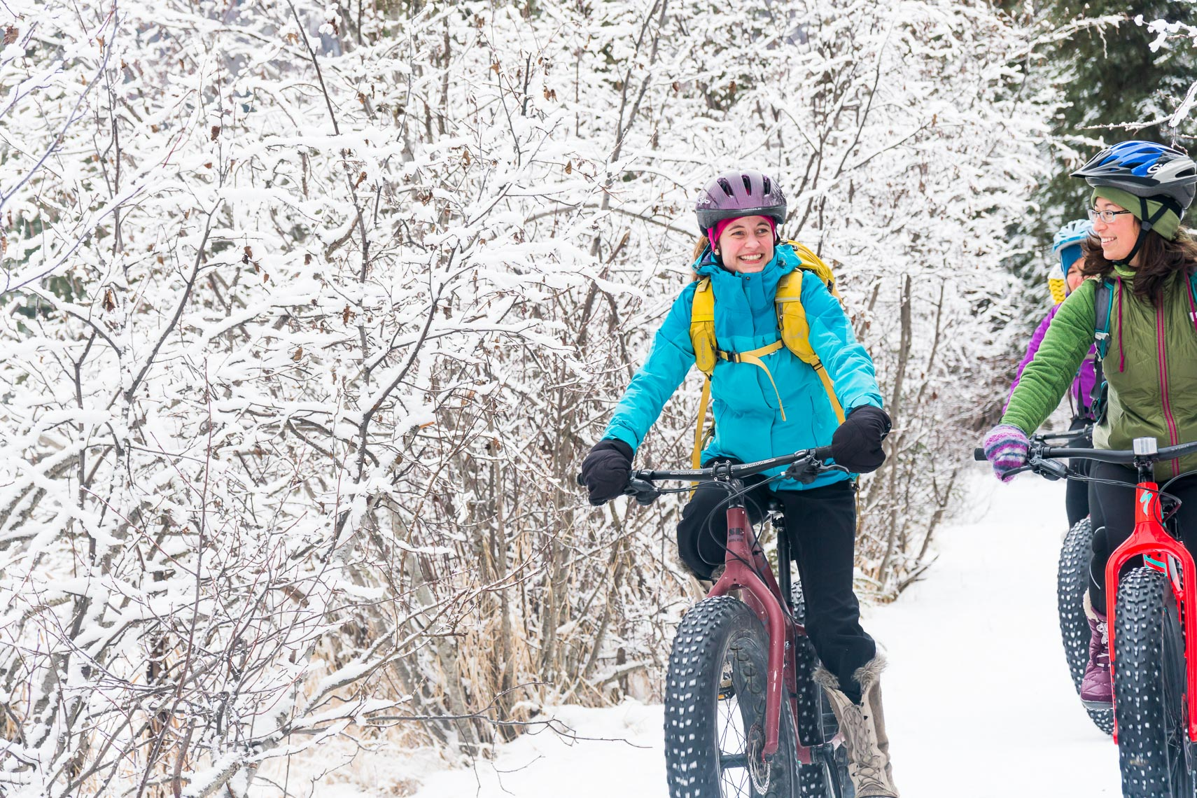Alaska Winter Fat Tire Biking Friends | Michael DeYoung
