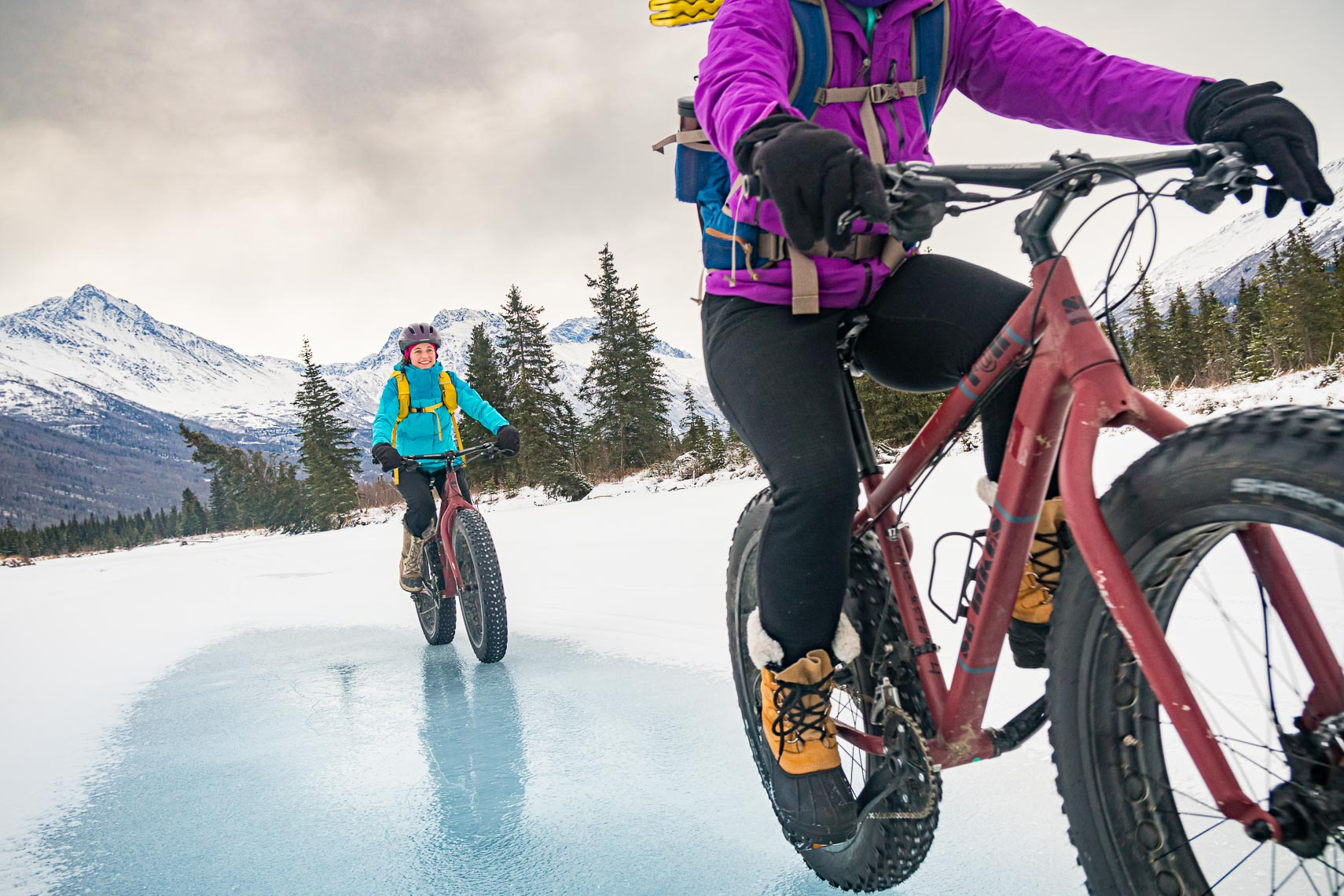 Fat Tire Biking On Ice Alaska | Photographer Michael DeYoung