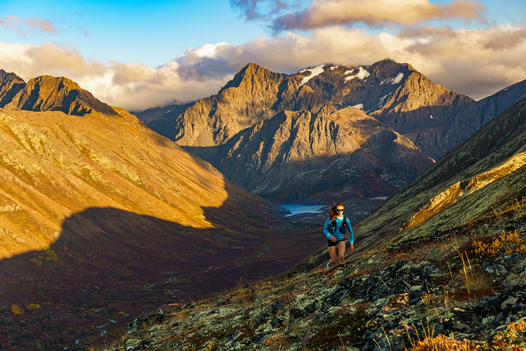 Alaska Mountain Runner Above Eagle River | Michael DeYoung