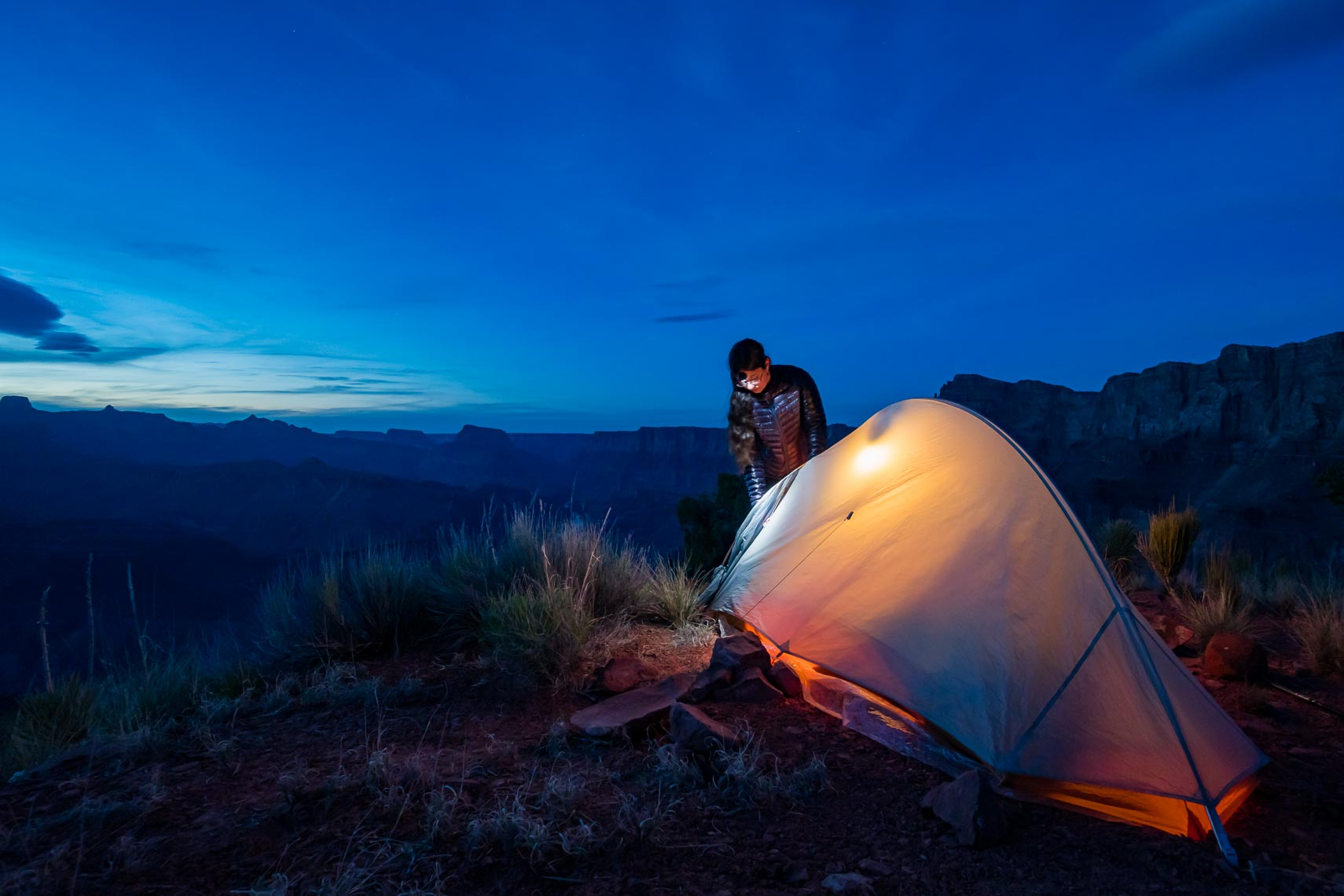 Lit Tent Ultralight Backpacking Grand Canyon | Michael DeYoung