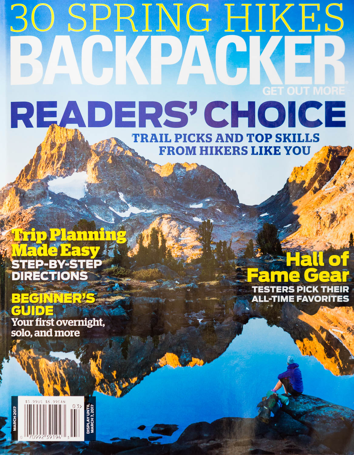 Backpacker Magazine March 2017 Photographer Michael DeYoung