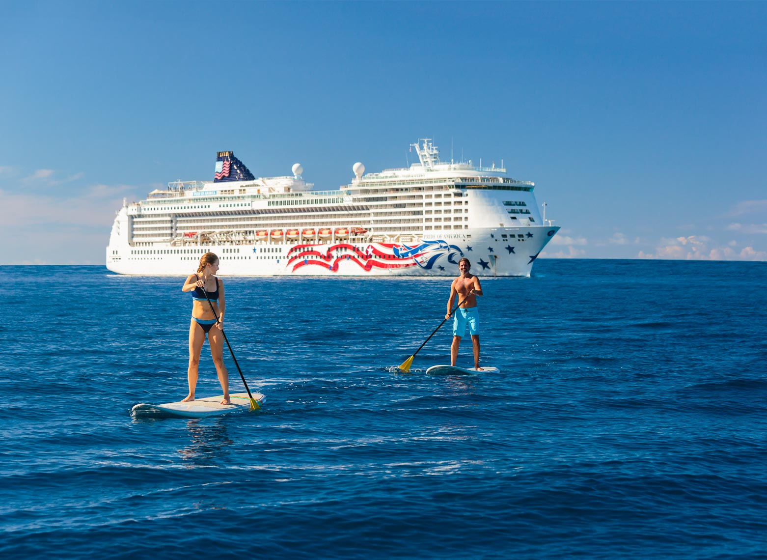 Norwegian Cruise Line Hawaii Ship SUP Couple | Michael DeYoung