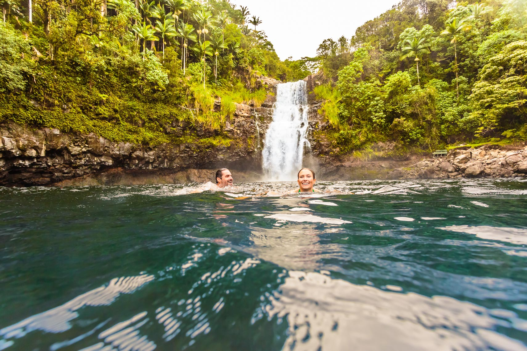 Norwegian Cruise Line Hawaii Couple Waterfall Swim | Michael DeYoung