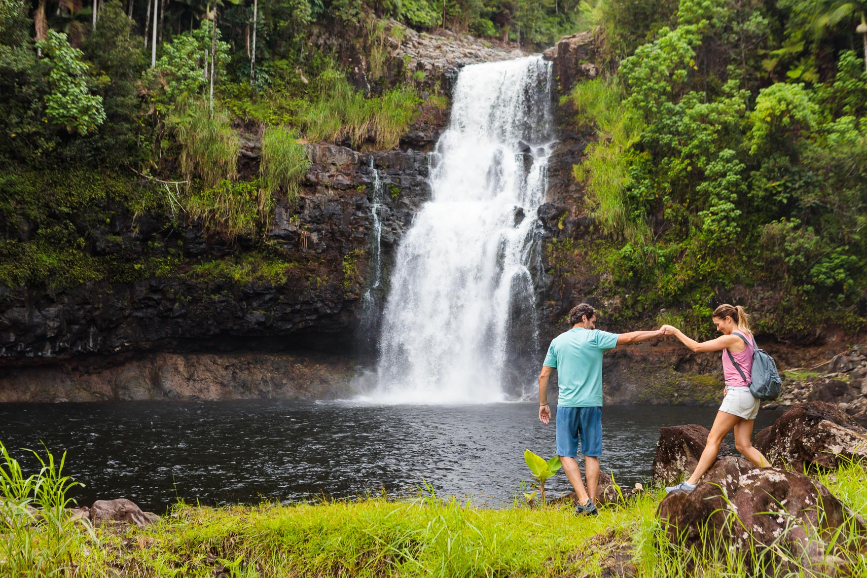Norwegian Cruise Line Hawaii Couple Waterfall Hike | Michael DeYoung