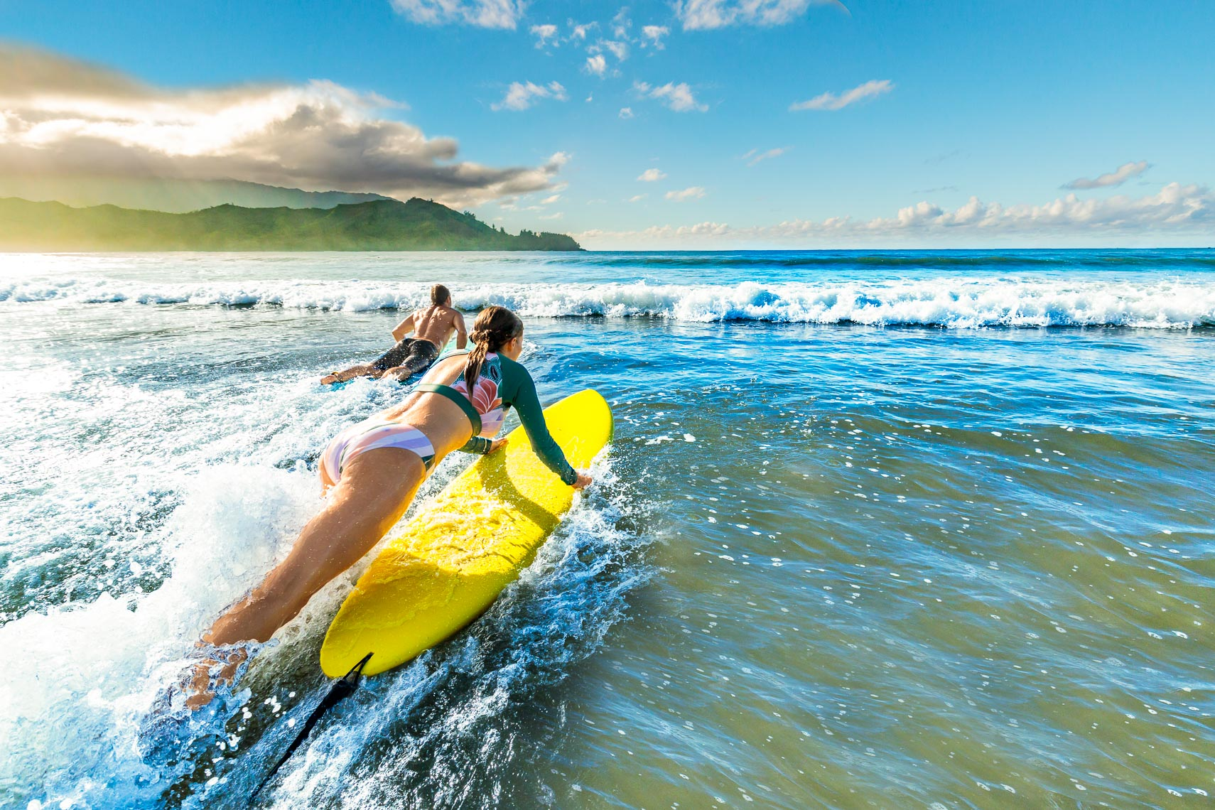 Norwegian Cruise Line Hawaii Couple Go Surfing | Michael DeYoung