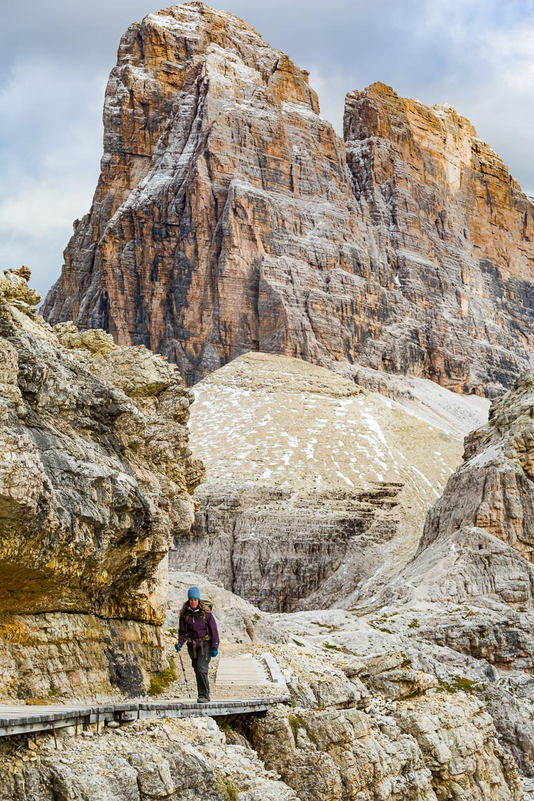 Dolomites Hiker on Narrow Trail | Michael DeYoung