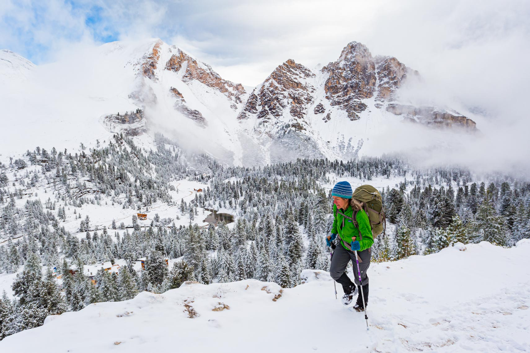 Hiking Adventure Early Snow in Dolomites | Michael DeYoung