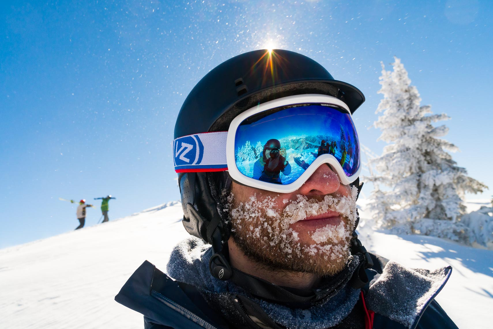 Environmental Portrait Frosty Skier Face | Photographer Michael DeYoung