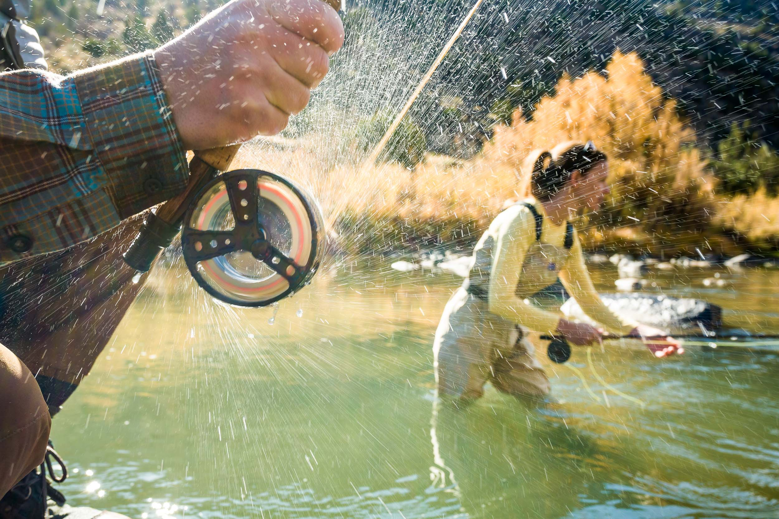 Taos New Mexico Photographer Michael DeYoung Couple Fly Fishing
