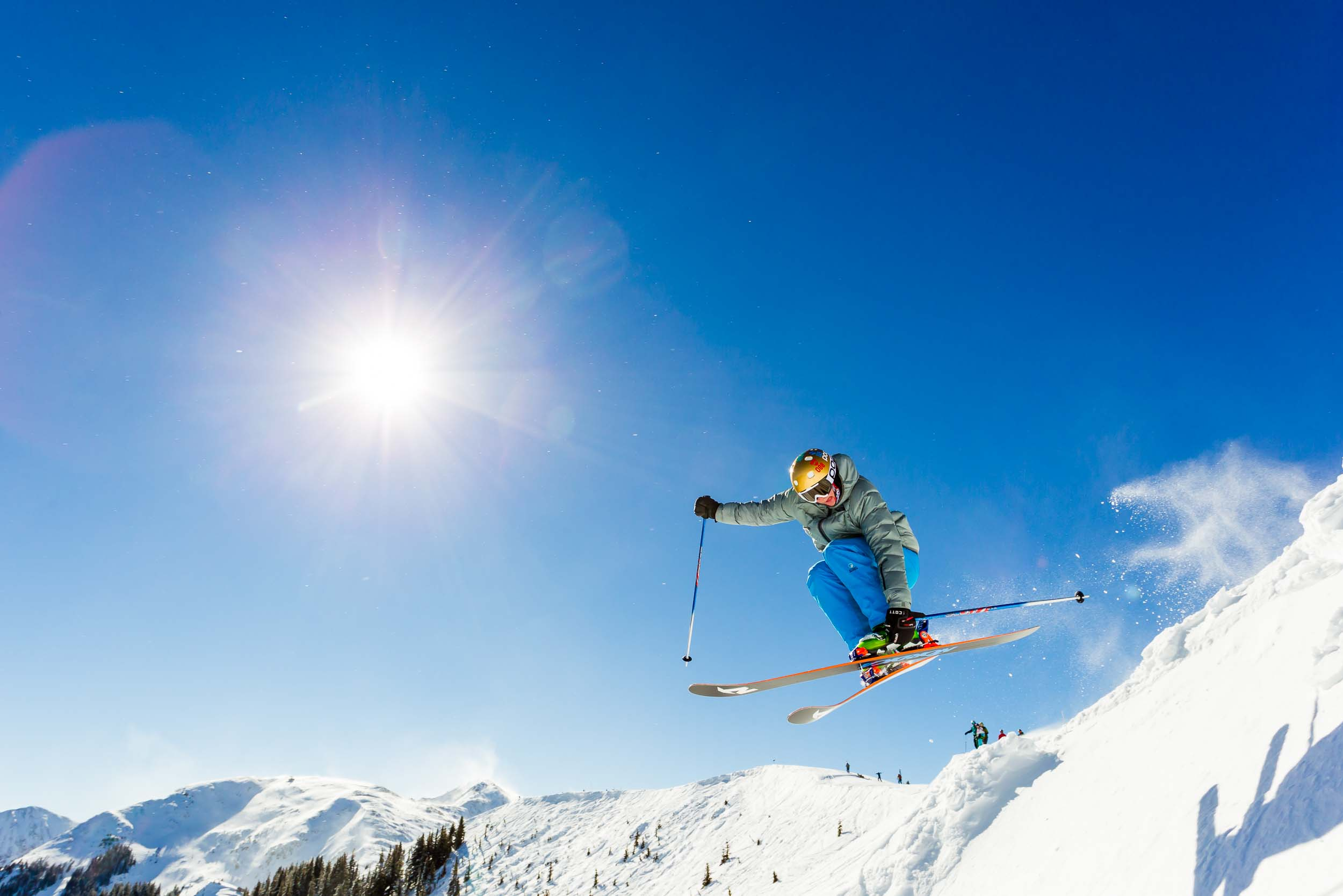 Taos New Mexico Photographers Michael DeYoung Skier Jump