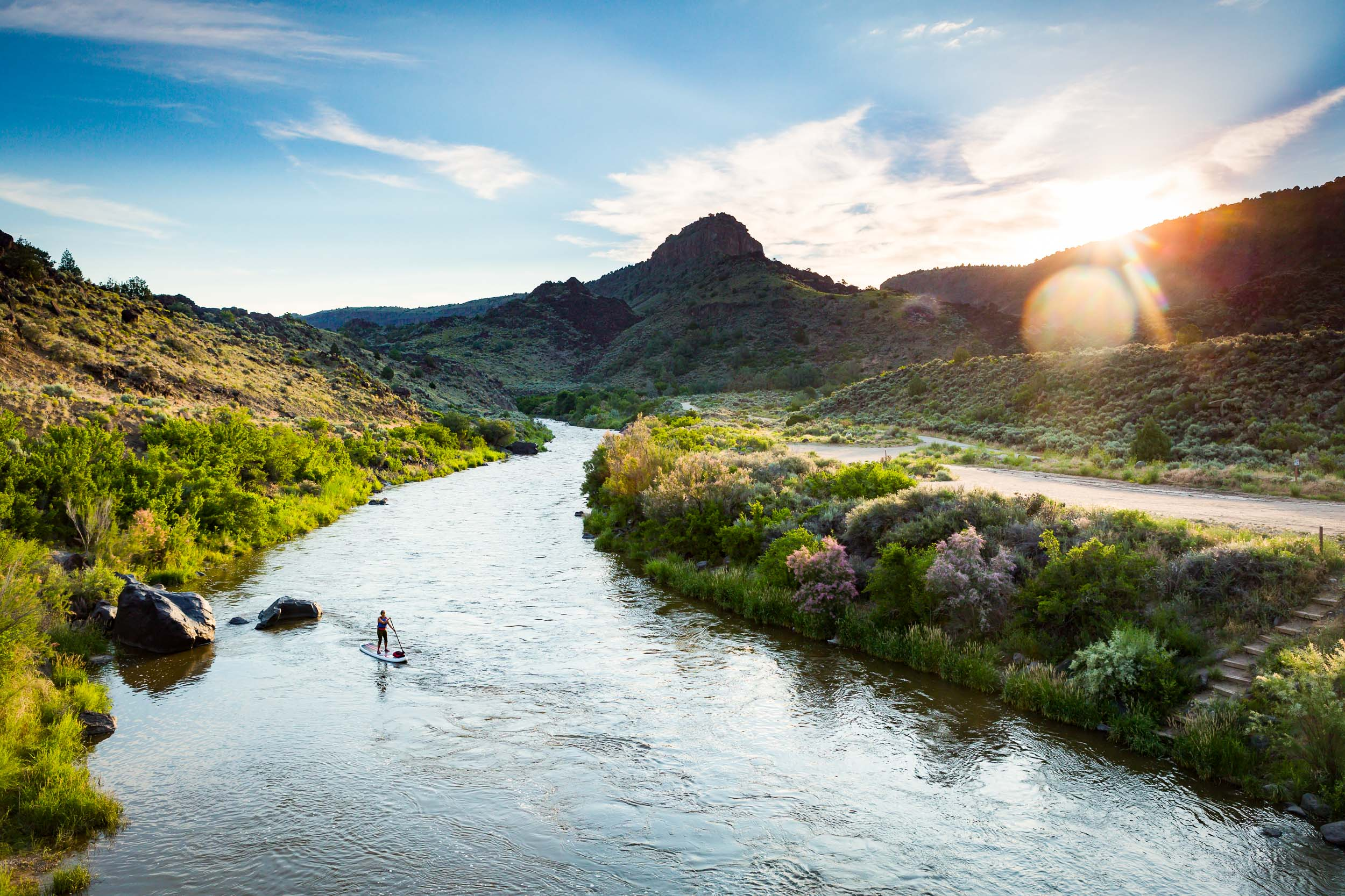 Taos New Mexico Photographer Michael DeYoung Rio Grande SUP