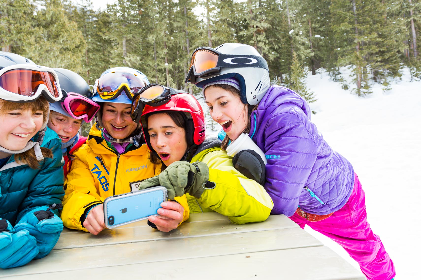 Young Girls Taos Ski Valley Ski School Instructor | Michael DeYoung