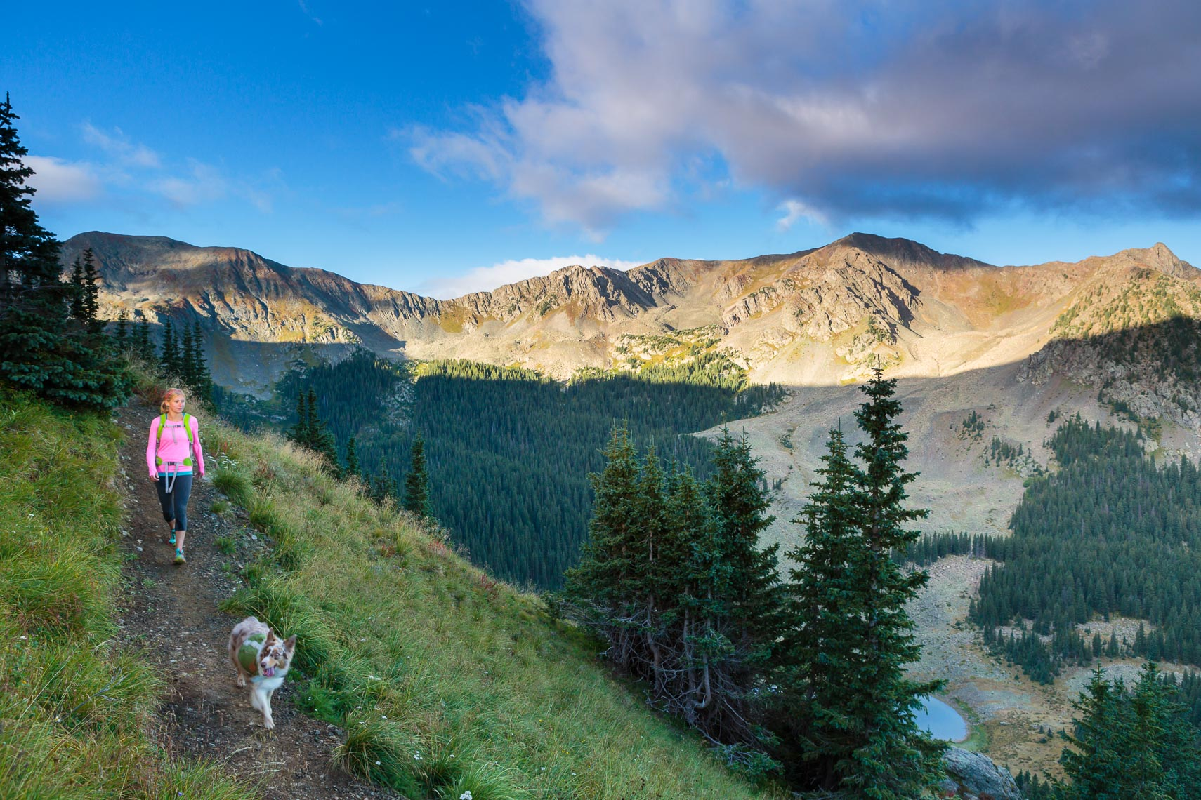 Hiker with Dog | New Mexico Photographer Michael DeYoung