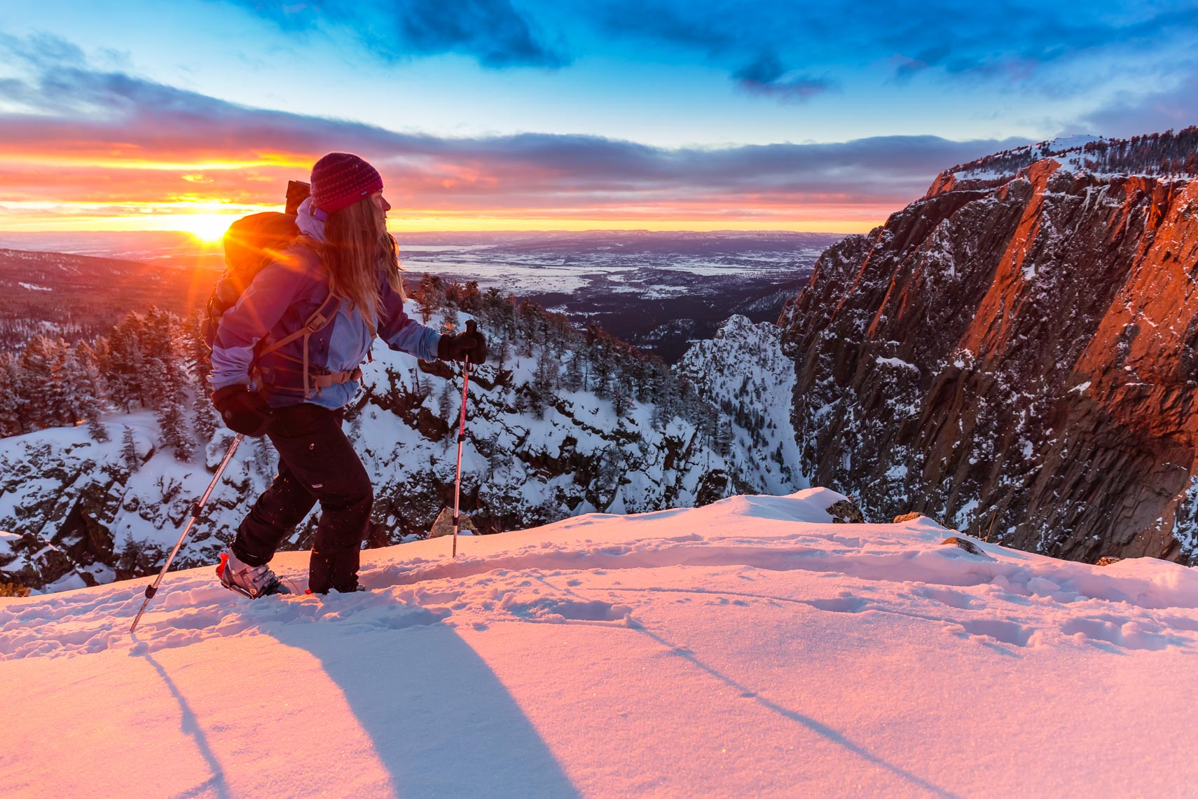 New Mexico Backcountry Skiing | Photographer Michael DeYoung