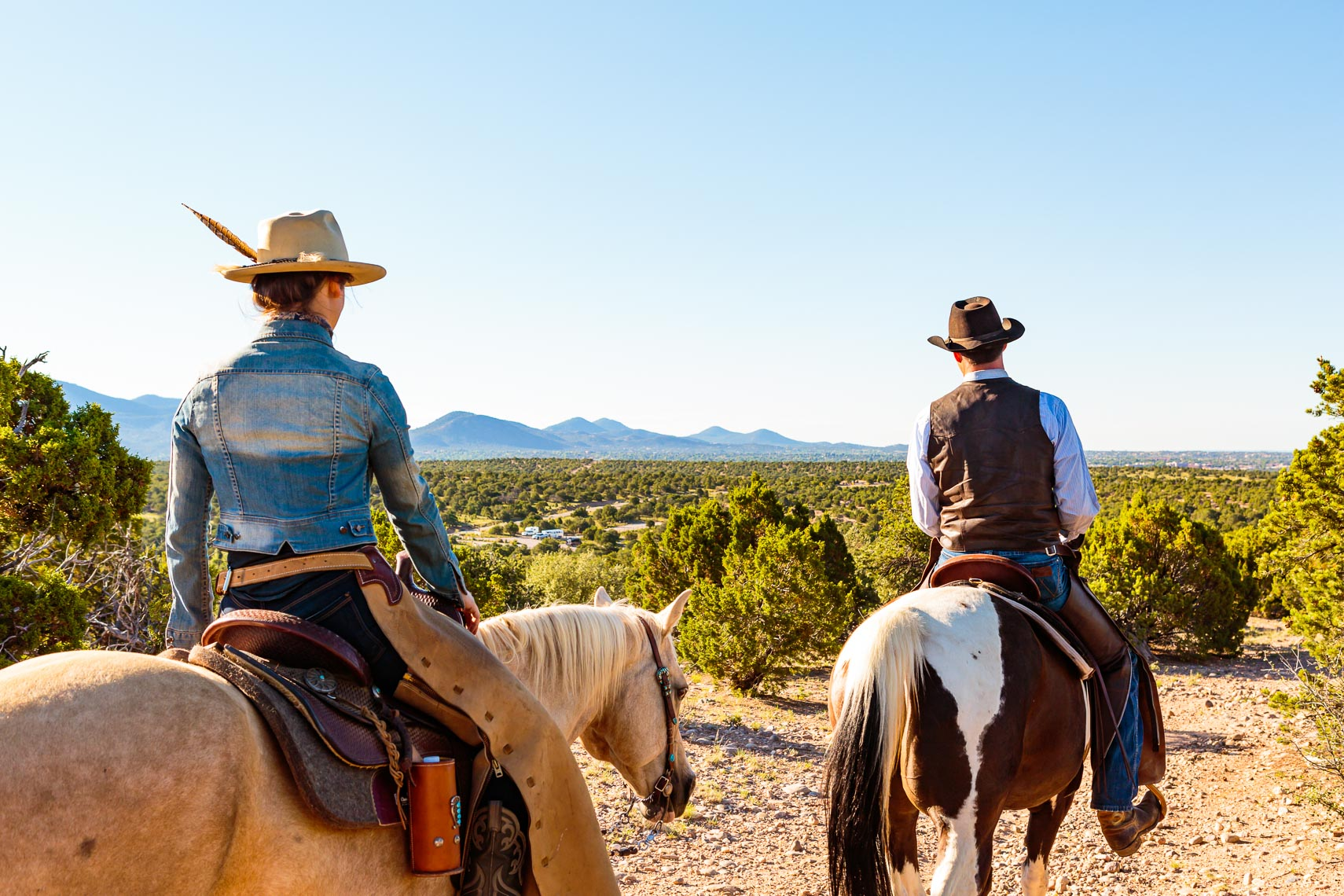 Santa Fe New Mexico Couple Horse Riding | Michael DeYoung