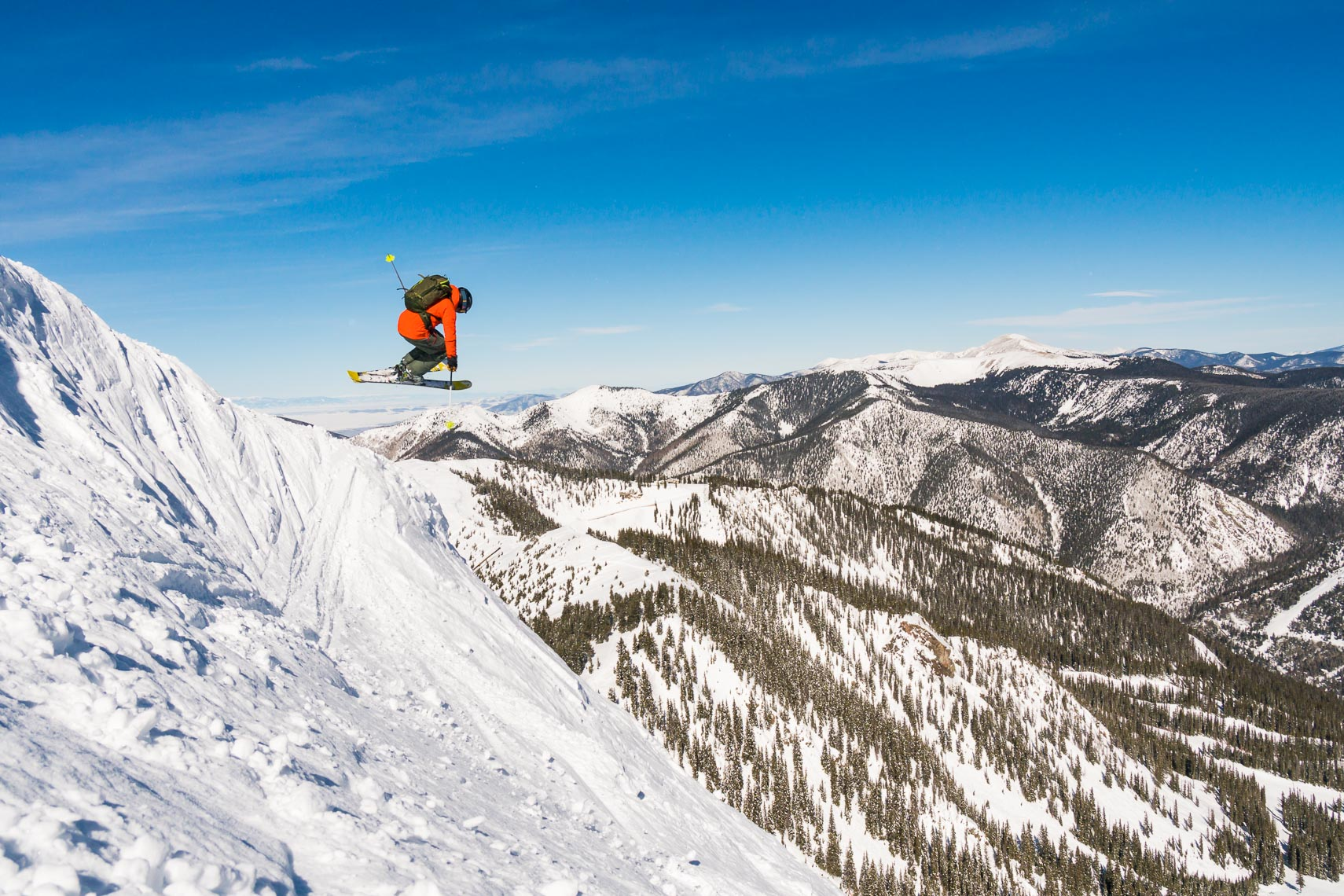Skier Takes Air Kachina Peak New Mexico | Michael DeYoung