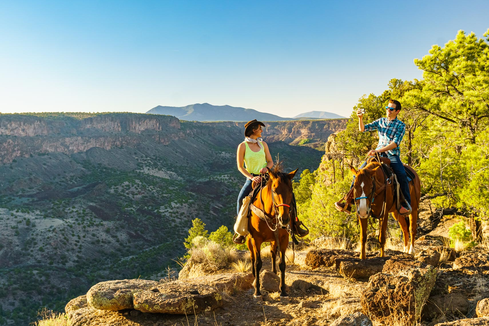 Visit Taos Couple On Guided Horseback Ride | Michael DeYoung