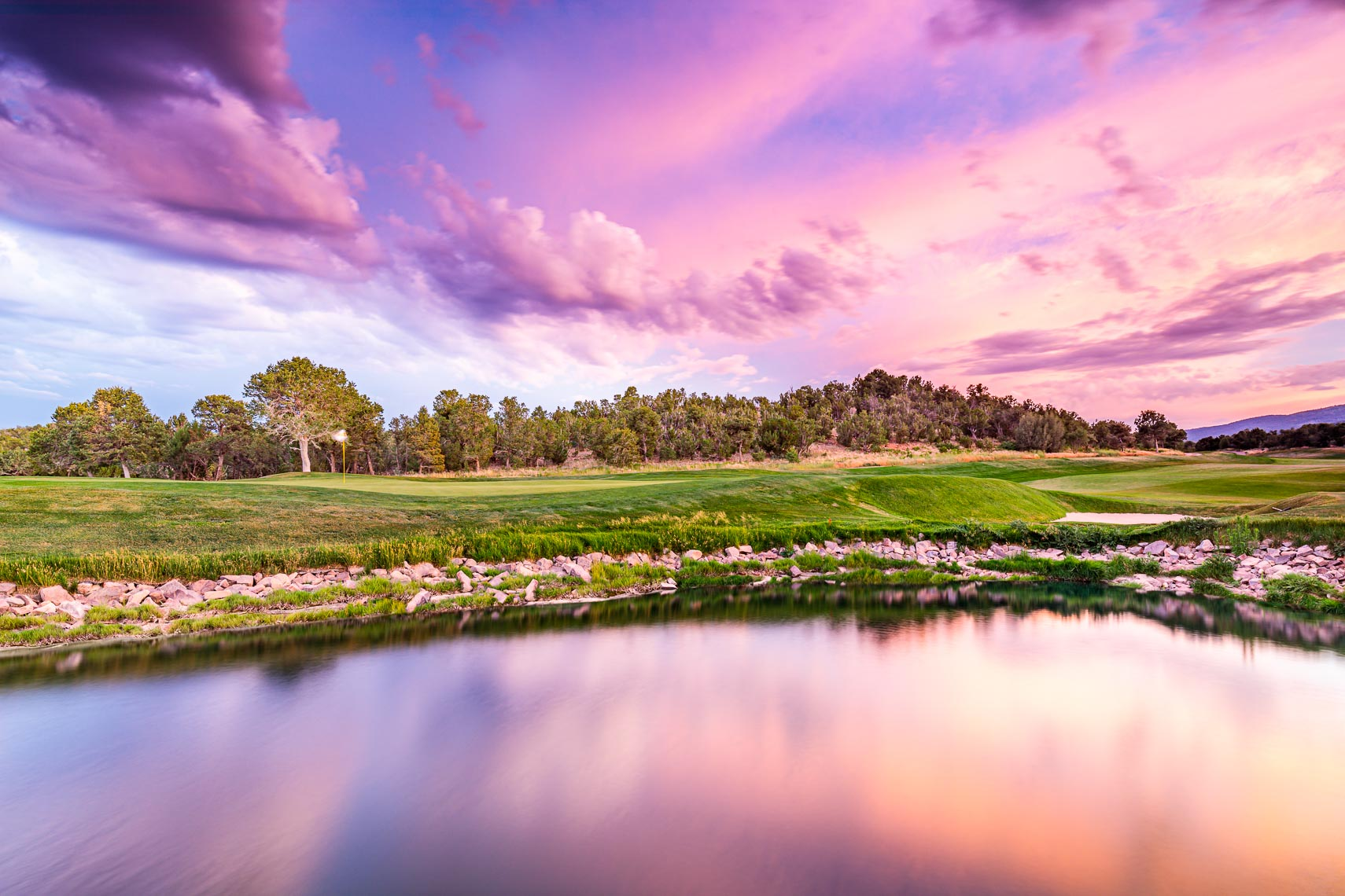 Pink Skies Over Paako Ridge Golf Club New Mexico | Michael DeYoung