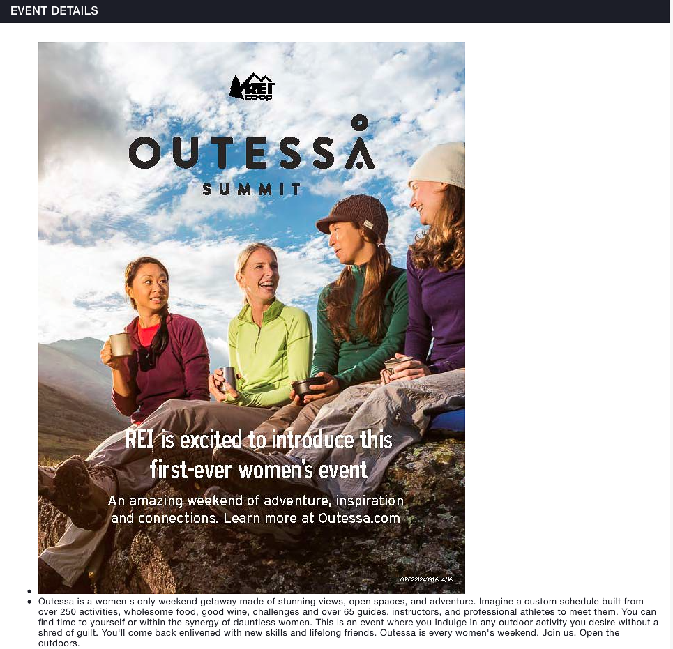 REI Outessa Women 2017 Summit Photographer Michael DeYoung