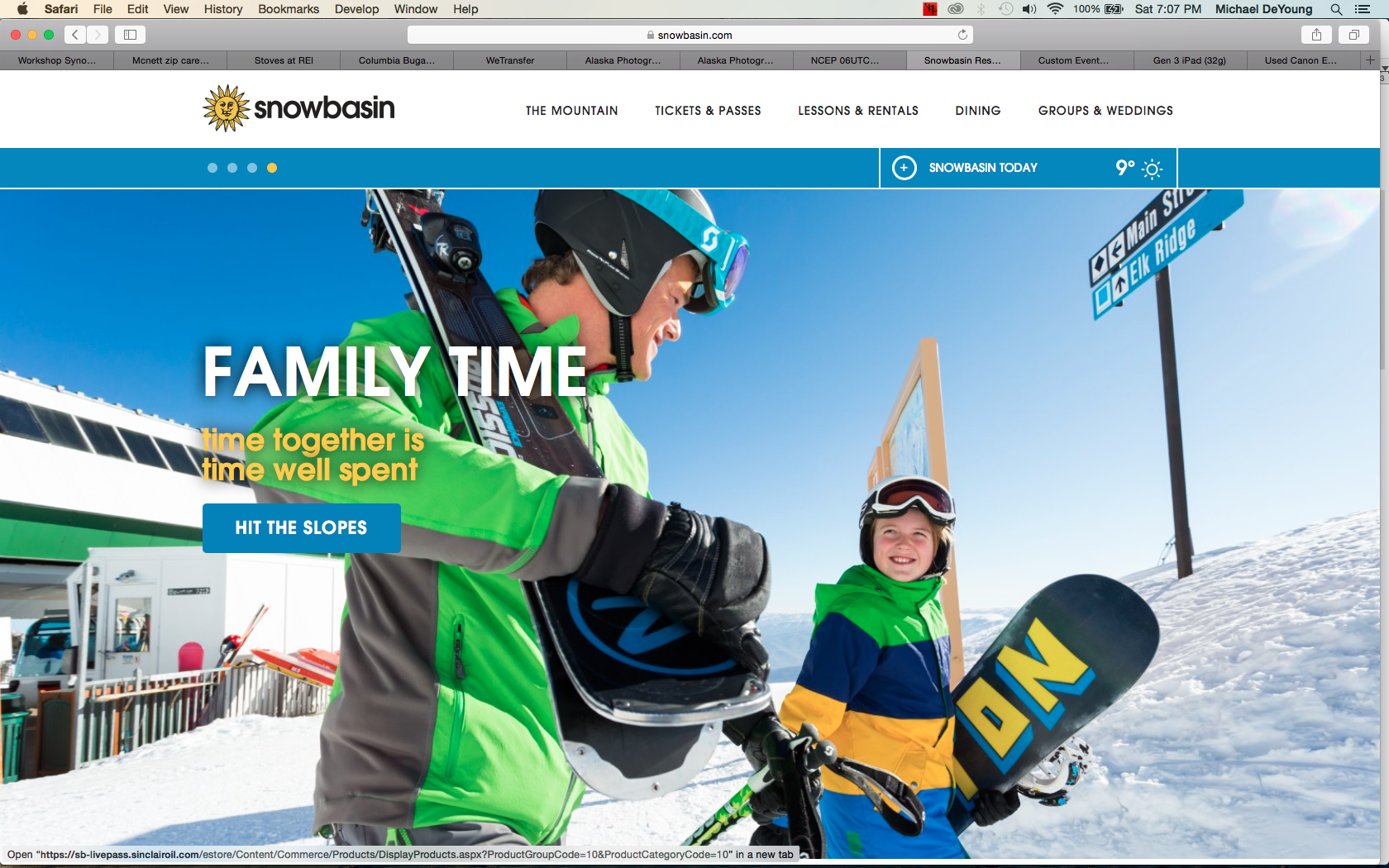 Snowbasin Ski Resort Website Photographer Michael DeYoung