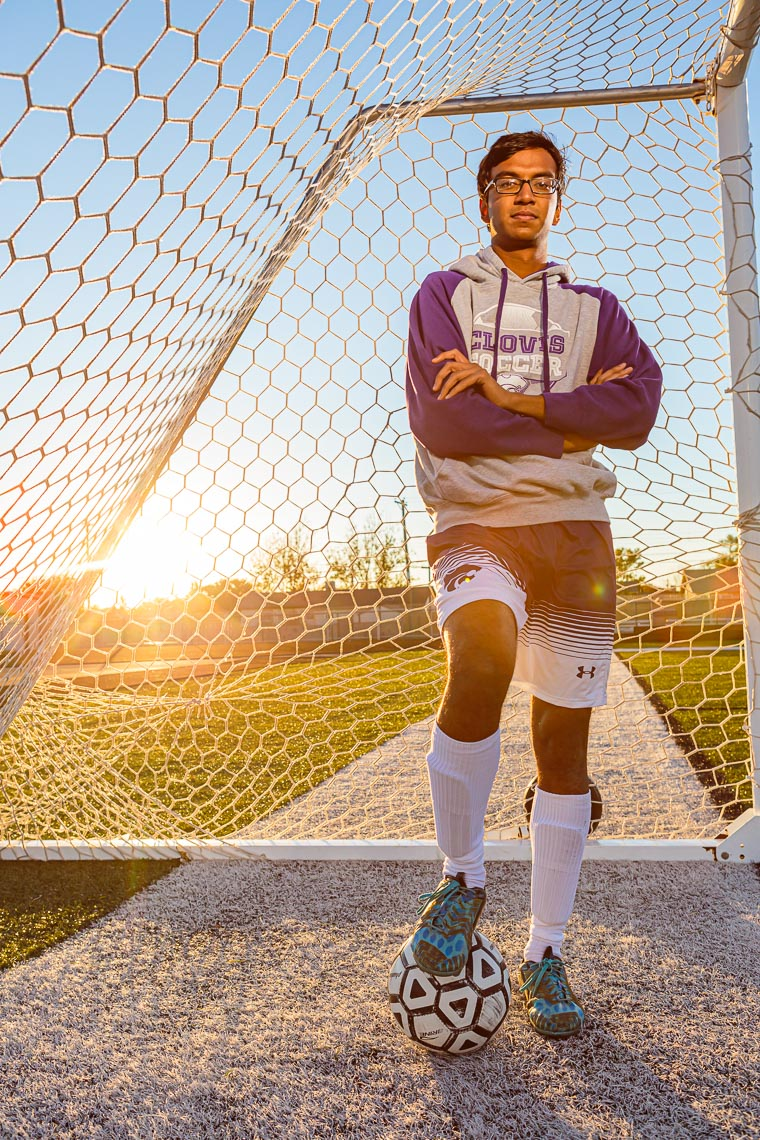 Environmental Portrait High School Soccer Player | Michael DeYoung