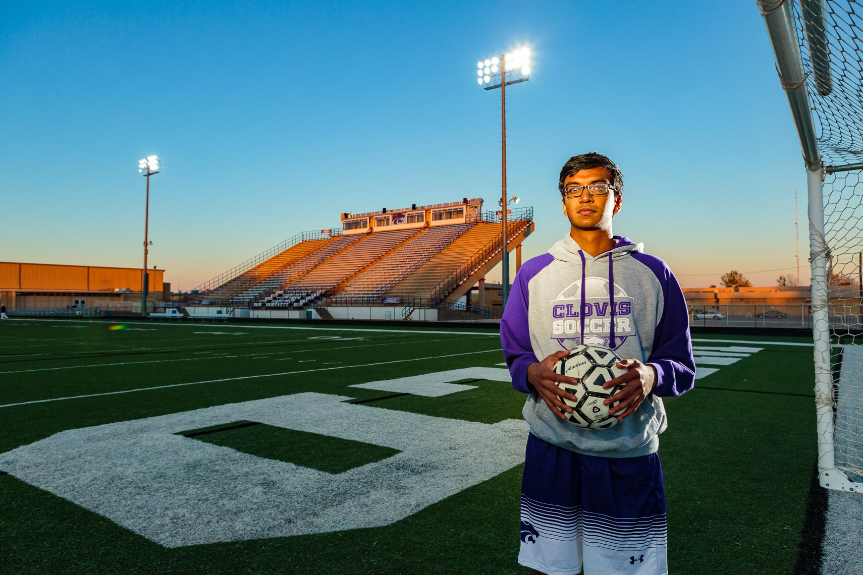 Environmental Portrait New Mexico Soccer Player | Michael DeYoung