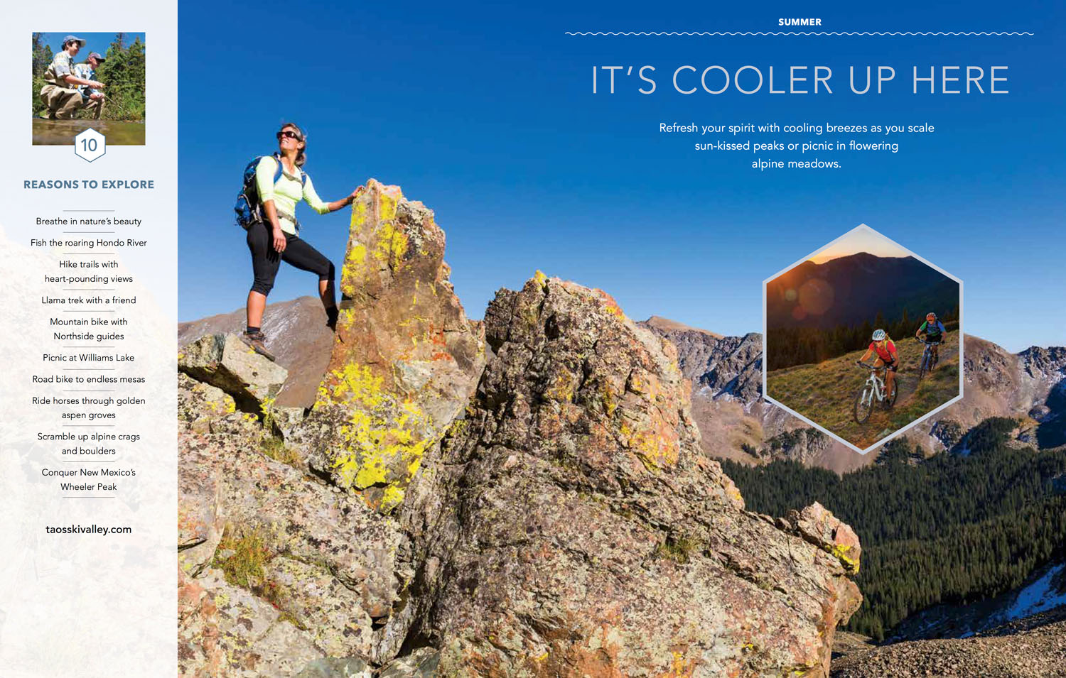 Taos Ski Valley Visitor Guide Peak Hike Photographer M DeYoung