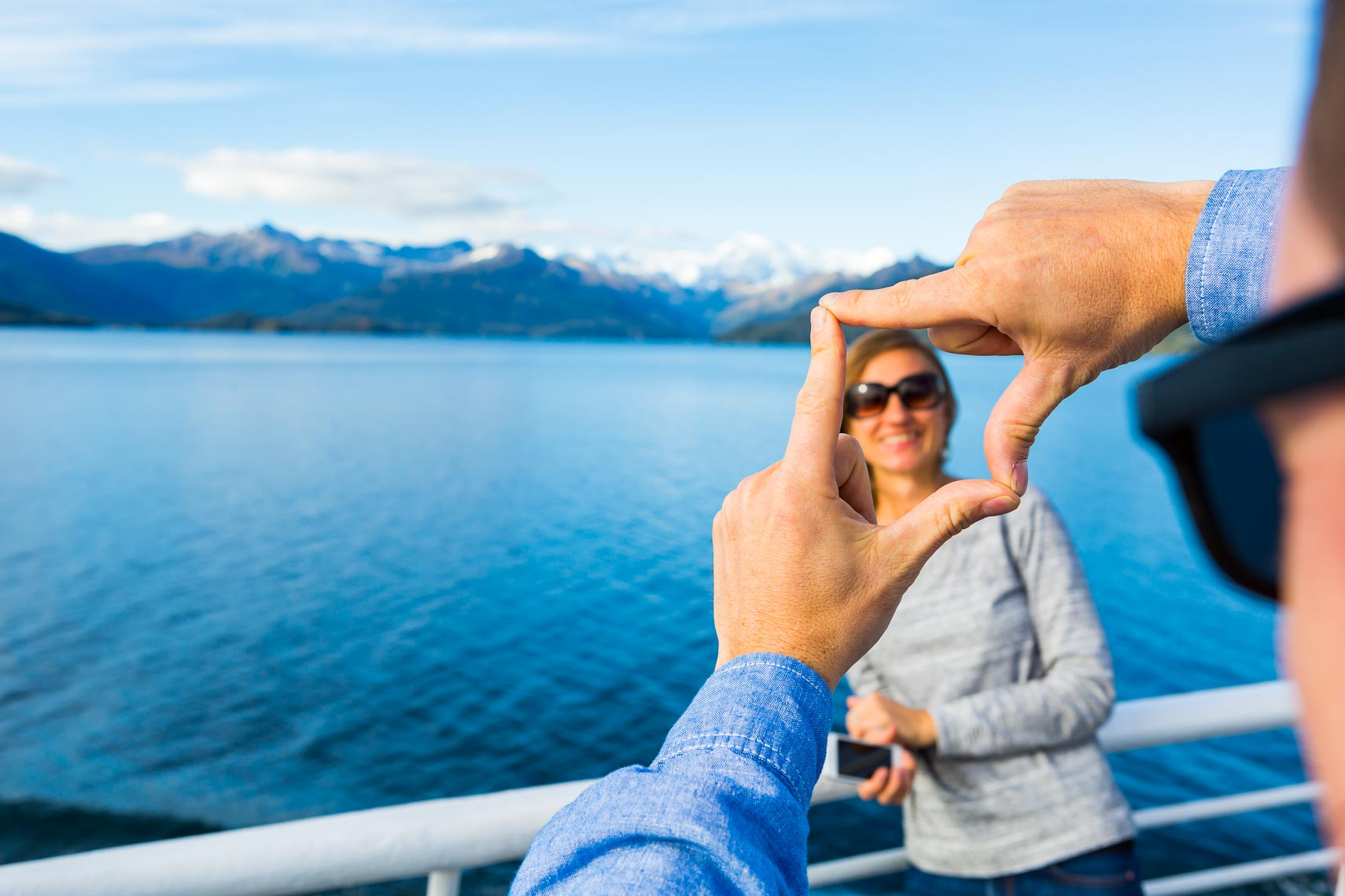 Alaska Tourism Couple Travel By Ferry | Michael DeYoung