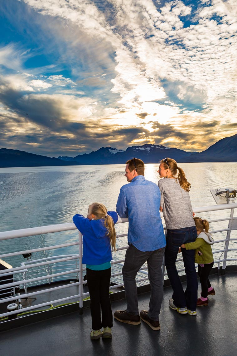 Alaska Travel Family on Ferry Deck | Michael DeYoung