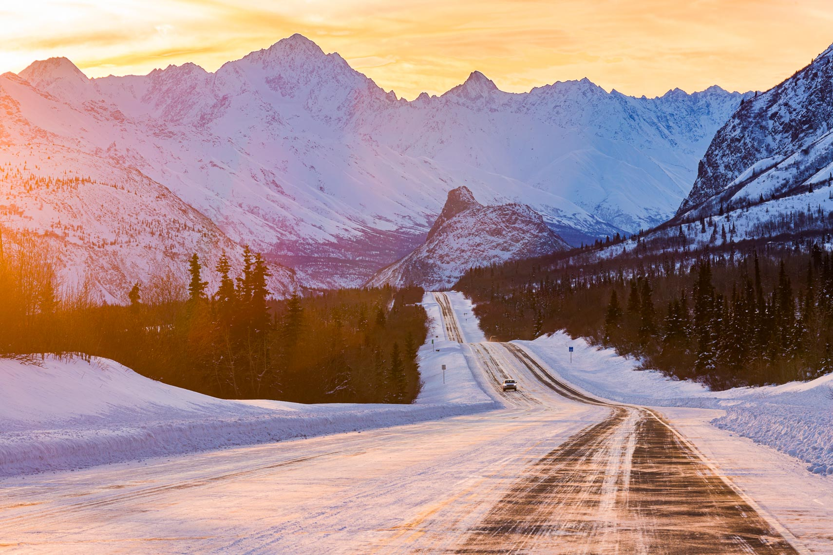 Alaska Travel Landscape Winter Highway | Michael DeYoung