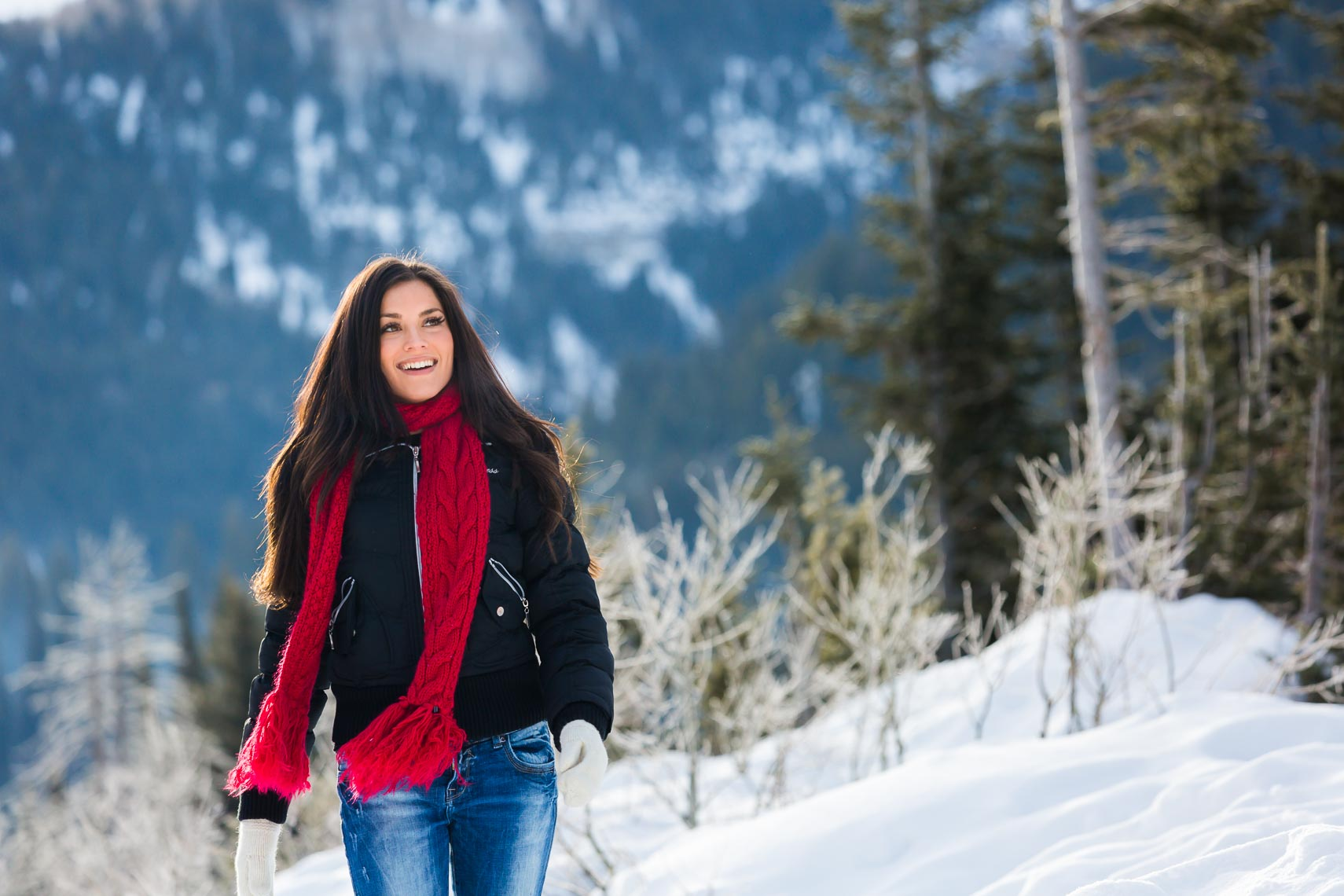 Utah Winter Lifestyle Ethnic Woman | Michael DeYoung