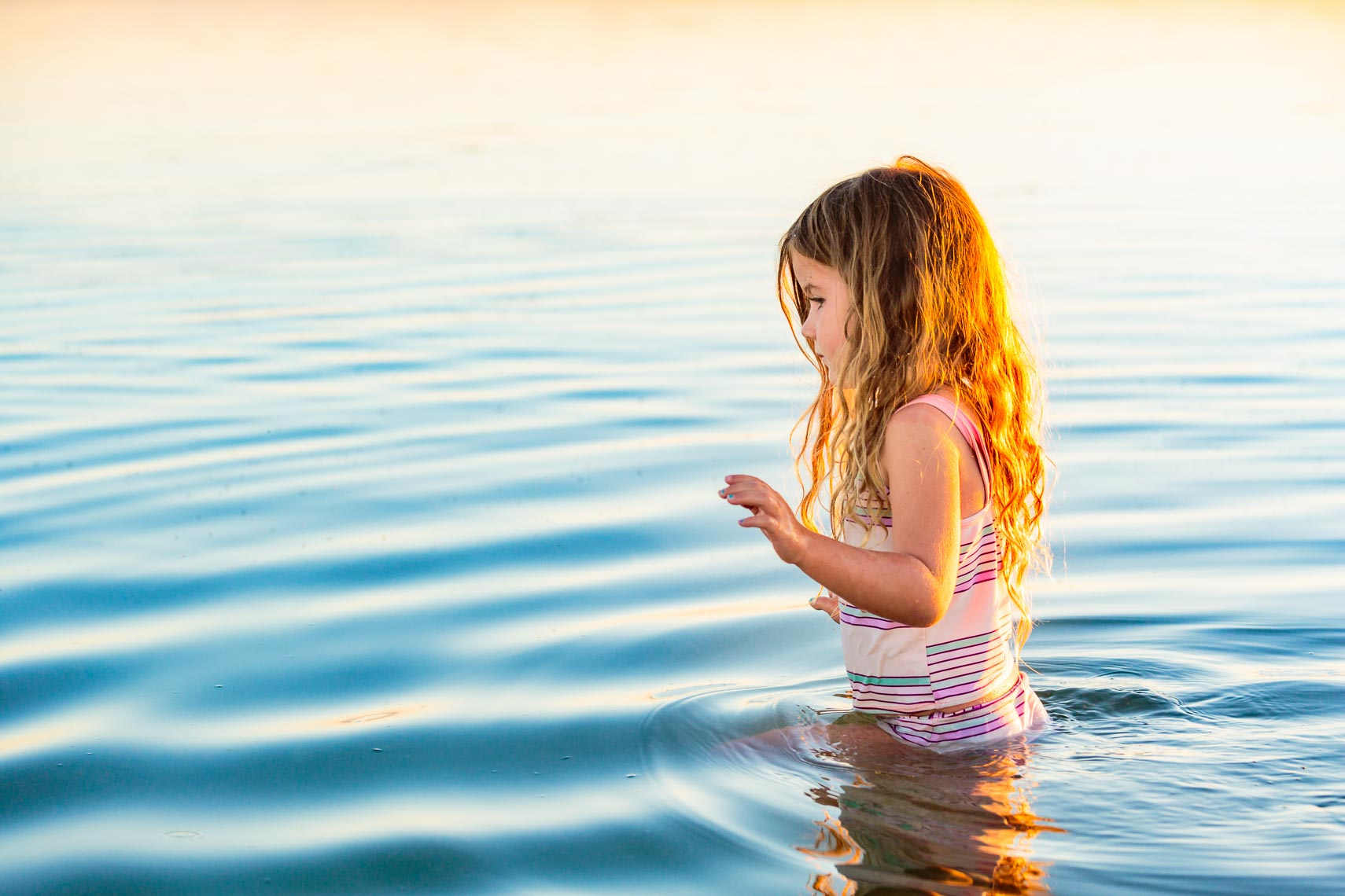 Young Girl Wading in Great Salt Lake Utah | Michael DeYoung