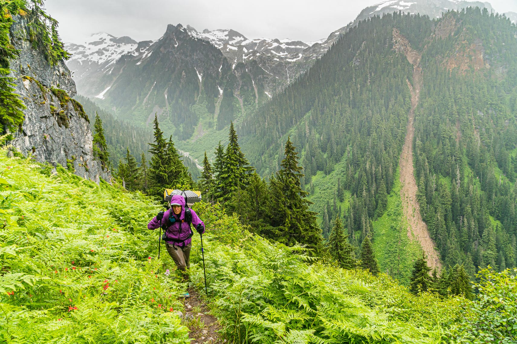 Hike in Washington Rain Adventure Photographer Michael DeYoung